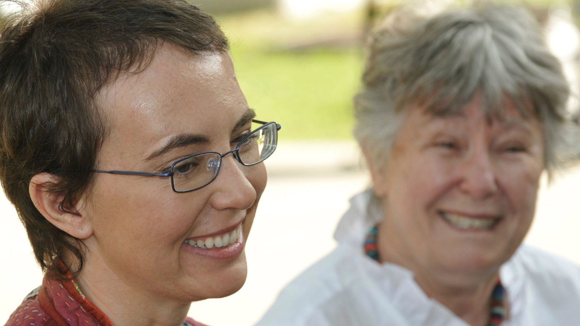 This, most recent photo of Rep. Gabrielle Giffords since she was shot, was posted to her public Facebook page by her aides.  The woman in the background is her mother Gloria Giffords. The photo was taken May 17, 2011 at TIRR Memorial Hermann Hospital, the day after the launch of Endeavour and the day before she had her cranioplasty.Giffords could be released from a rehabilitation hospital in Houston sometime this month, a top aide says, offering the latest indication that the Arizona congresswoman is making progress in recovering from a gunshot wound to the head. (AP/Giffords Campaign)