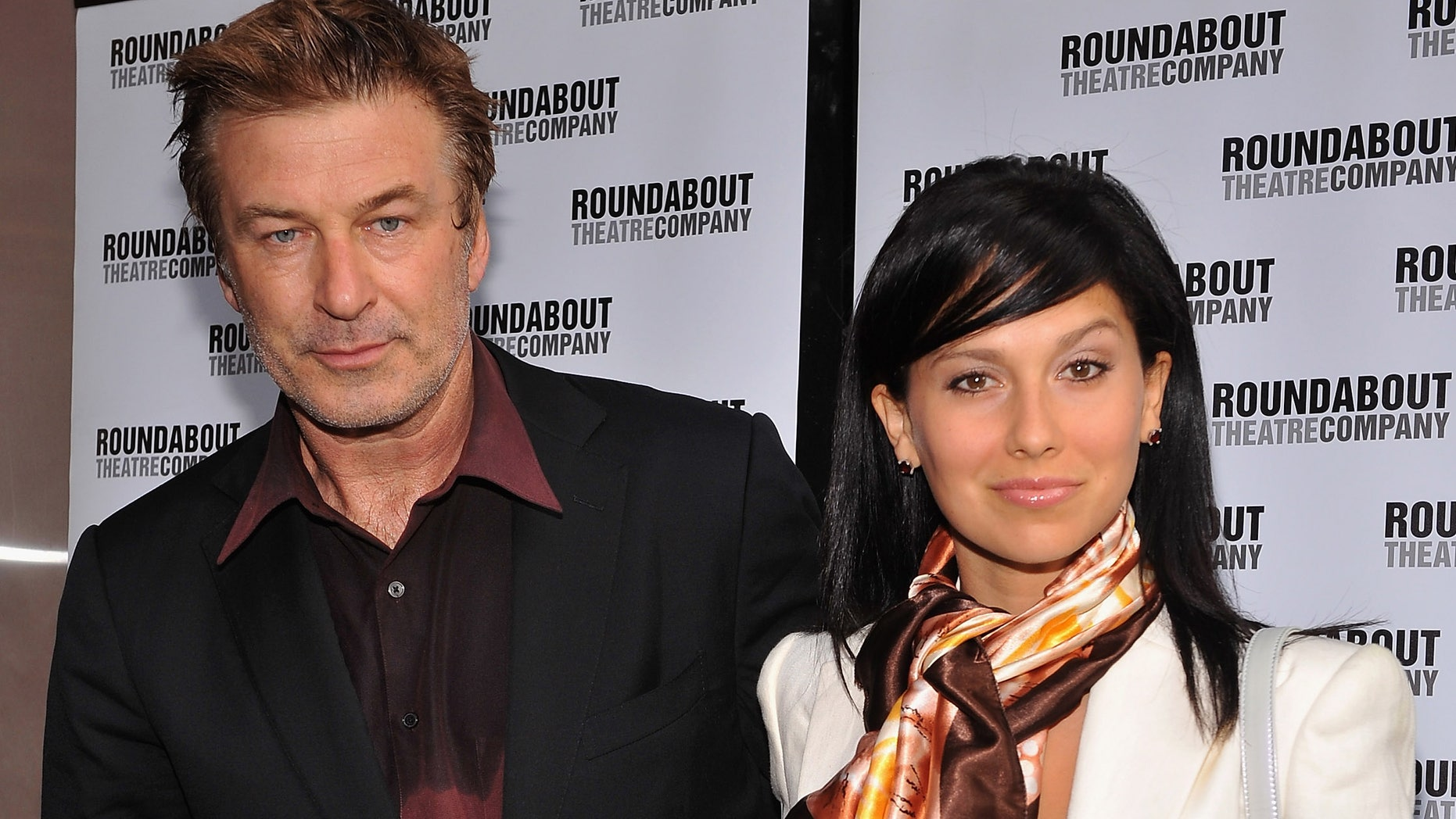 """NEW YORK, NY - JUNE 14:  Actor Alec Baldwin and Hilaria Thomas (R) attend """"Harvey"""" Broadway Opening Night Performance  at Roundabout Theatre Company's Studio 54 on June 14, 2012 in New York City.  (Photo by Fernando Leon/Getty Images)"""