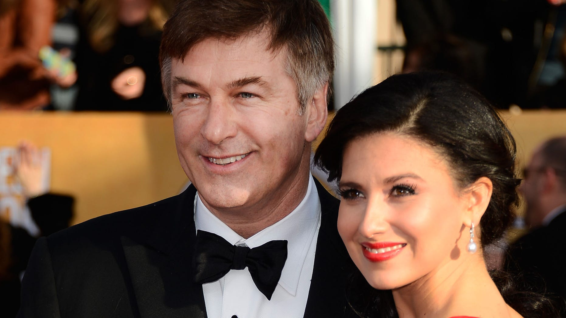 LOS ANGELES, CA - JANUARY 27:  Actor Alec Baldwin and wife Hilaria Thomas arrive at the 19th Annual Screen Actors Guild Awards held at The Shrine Auditorium on January 27, 2013 in Los Angeles, California.  (Photo by Frazer Harrison/Getty Images)