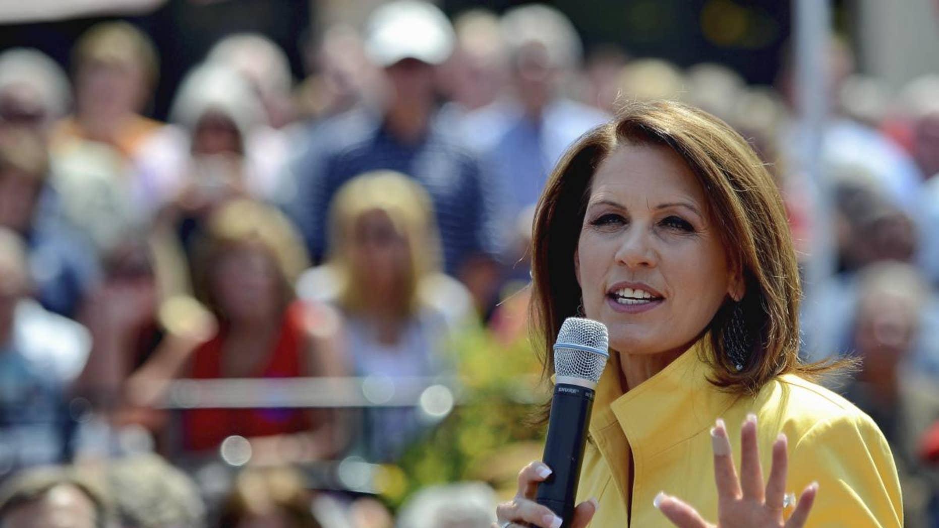Michele Bachmann at a rally in Spartanburg, SC (AP)