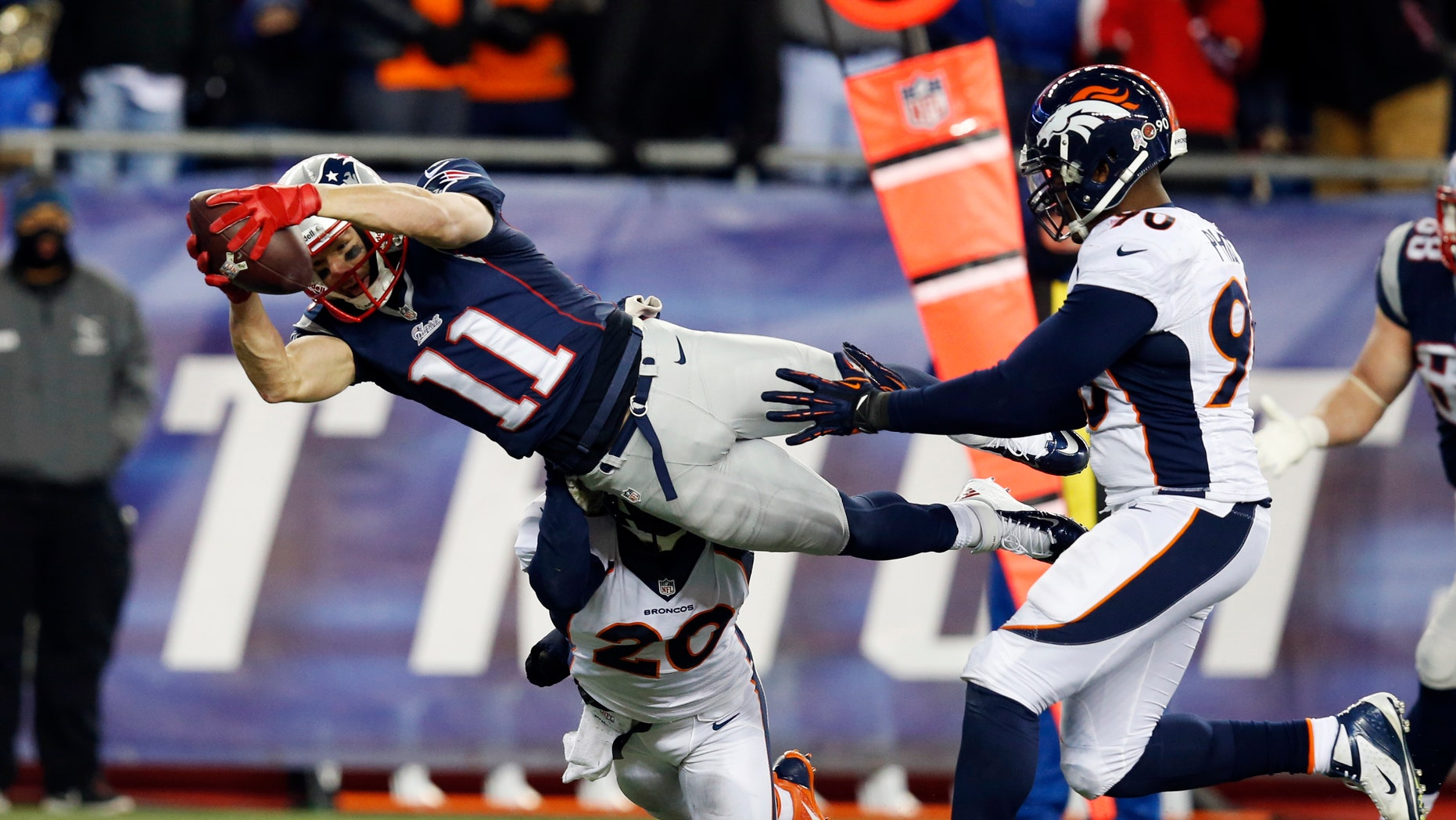 Julian Edelman has played in three Super Bowls as a member of the New England Patriots.