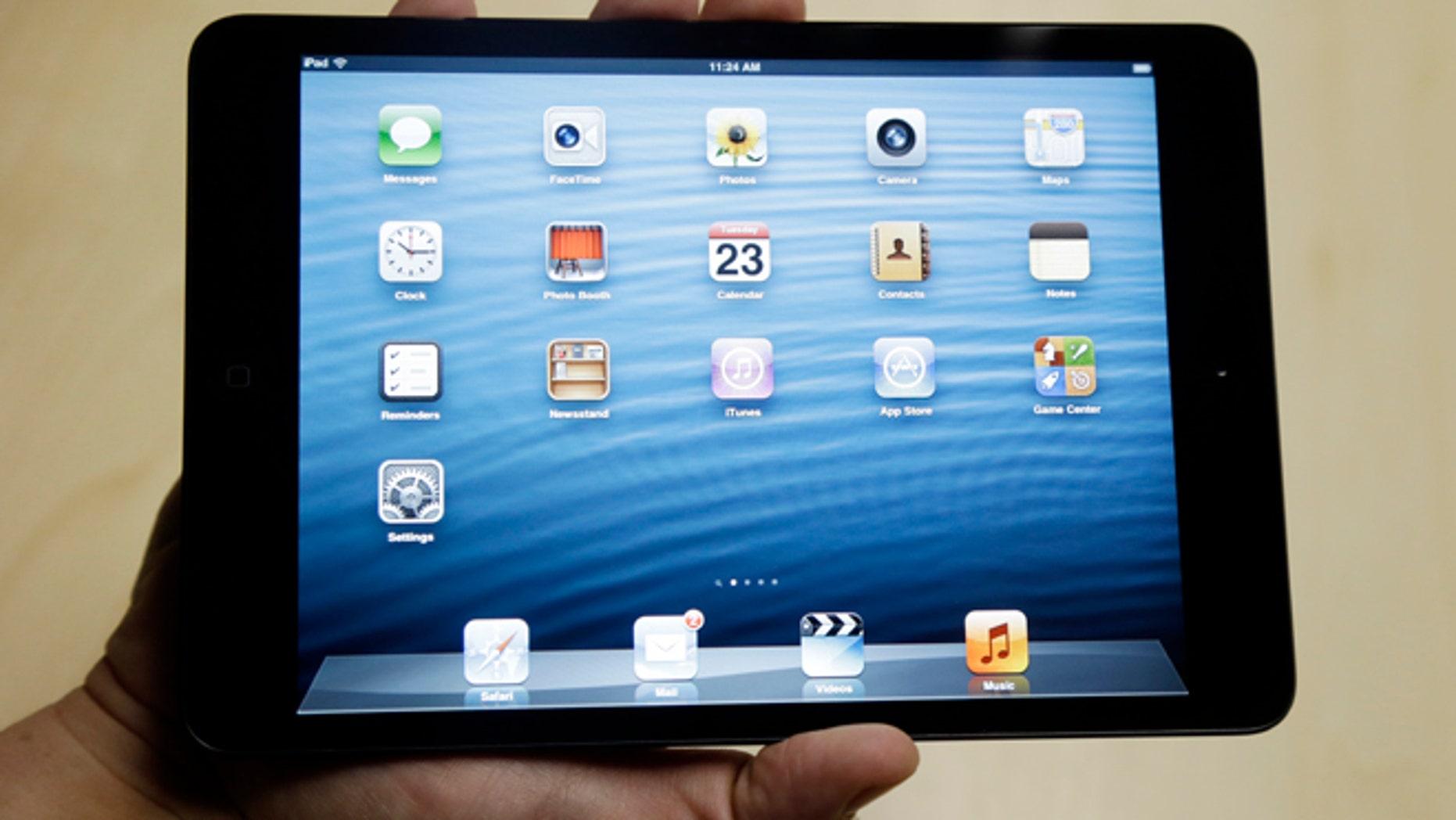 The iPad Mini is shown in San Jose, Calif., Tuesday, Oct.  23, 2012. (AP Photo/Marcio Jose Sanchez)