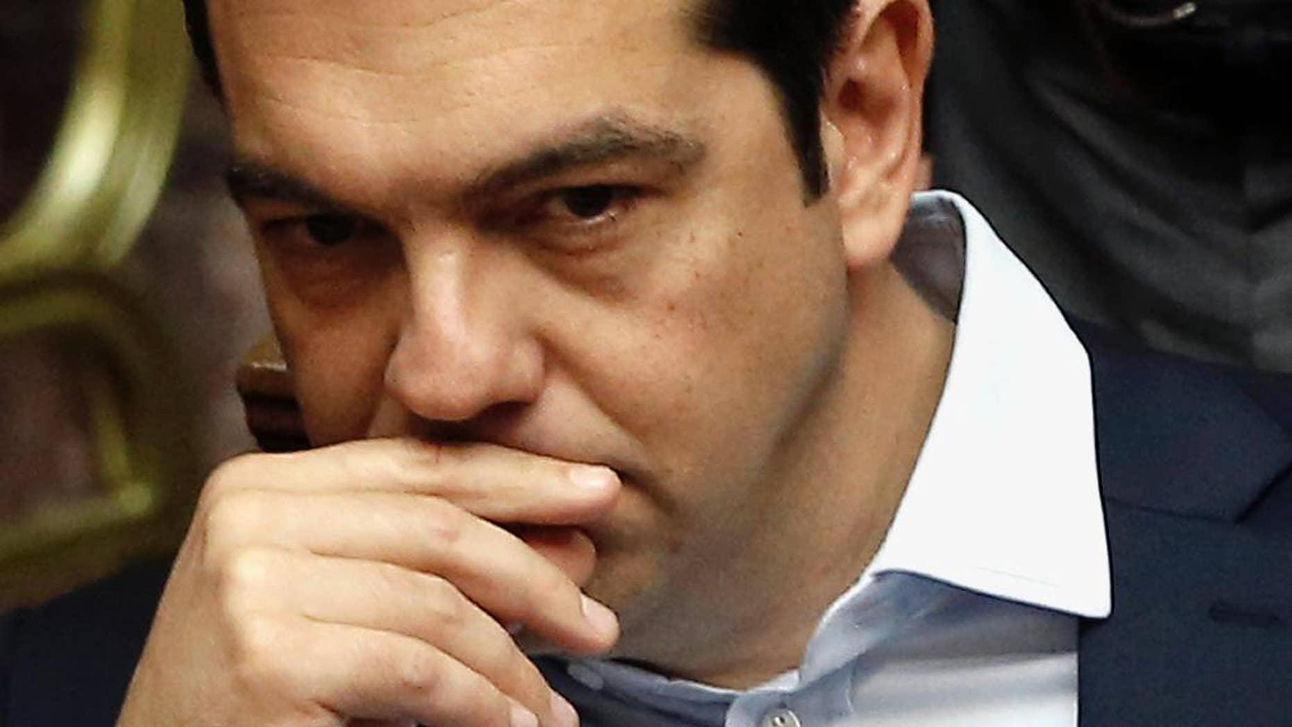 FILE -- Greek Prime Minister Alexis Tsipras