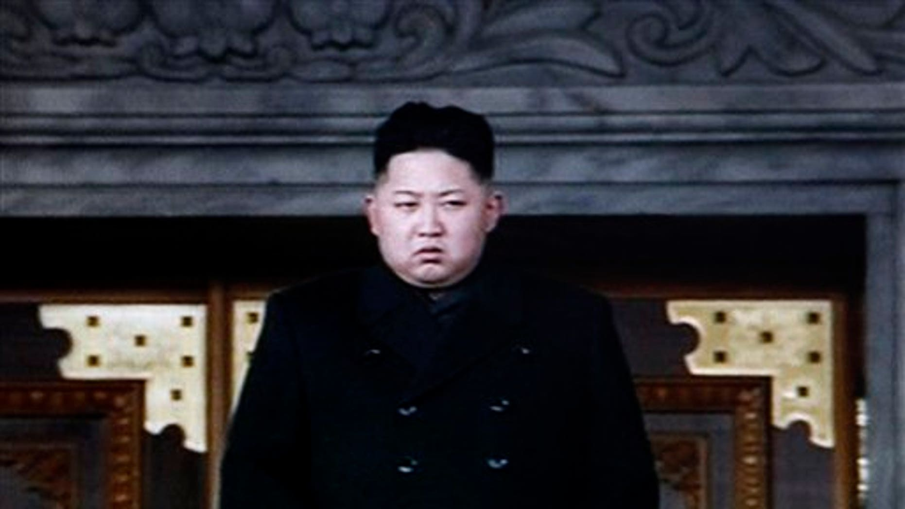 Dec. 29: In this image made from KRT video, North Korea's next leader Kim Jong Un is seen during a memorial service for late North Korean leader Kim Jong Il, in Pyongyang, North Korea.