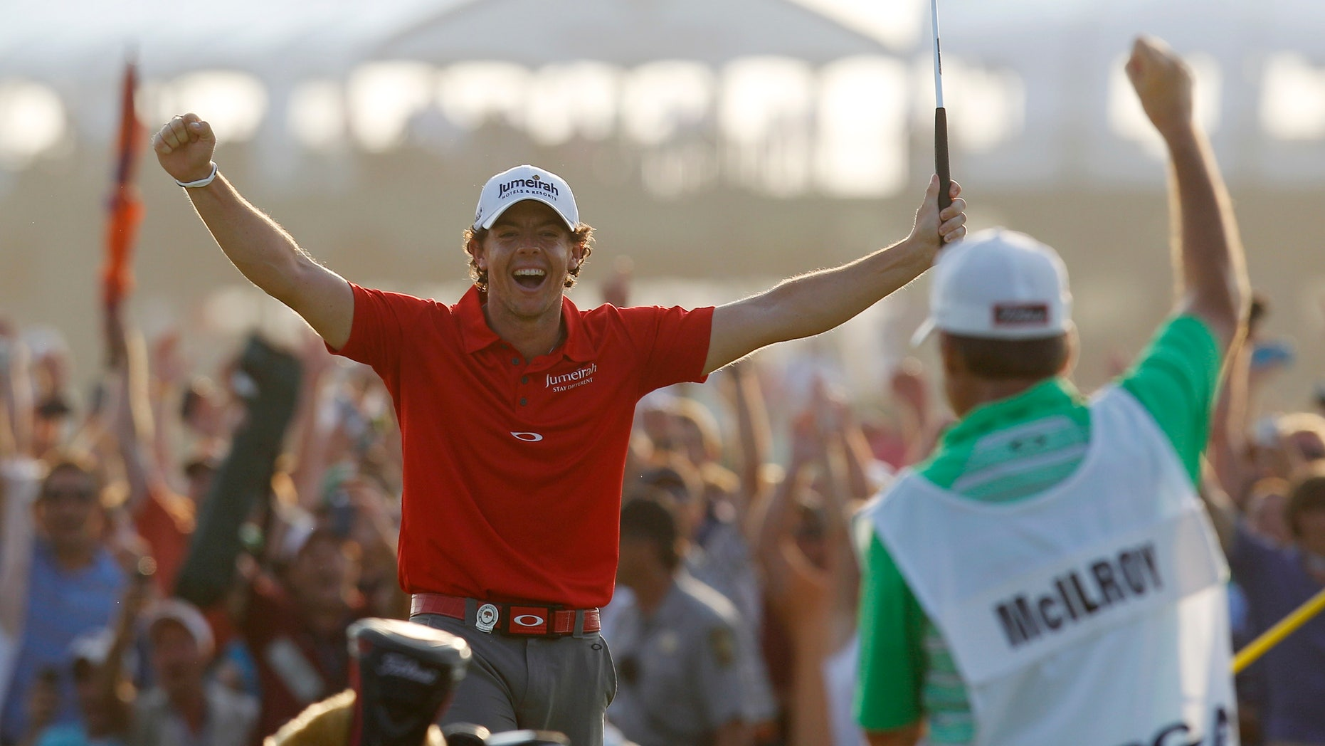 Aug. 12, 2012: Rory McIlroy of Northern Ireland reacts to his victory after a birdie putt on the 18th green during the final round of the PGA Championship golf tournament on the Ocean Course of the Kiawah Island Golf Resort in Kiawah Island, S.C.