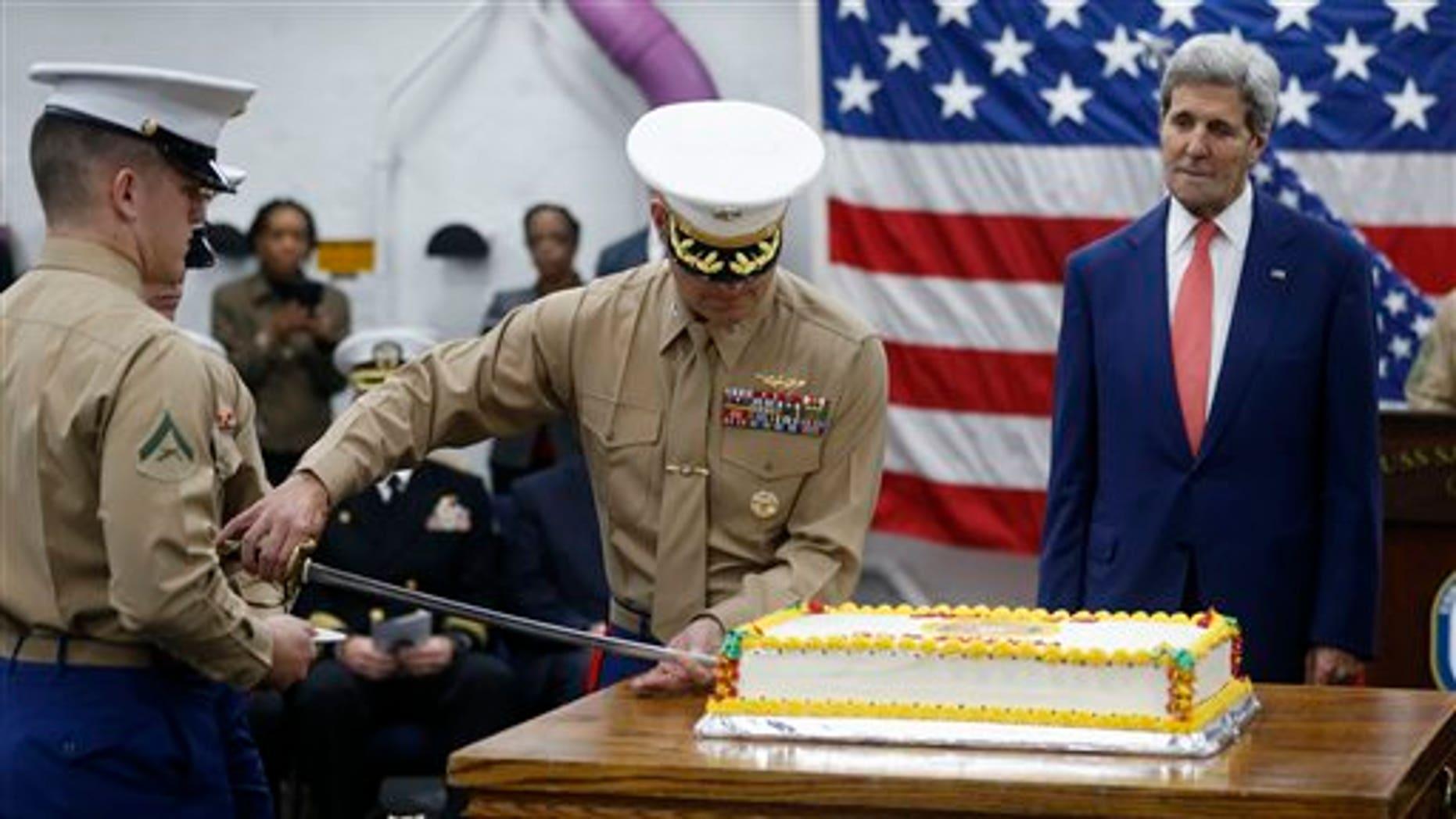 Celebrations aboard the USS San Antonio.
