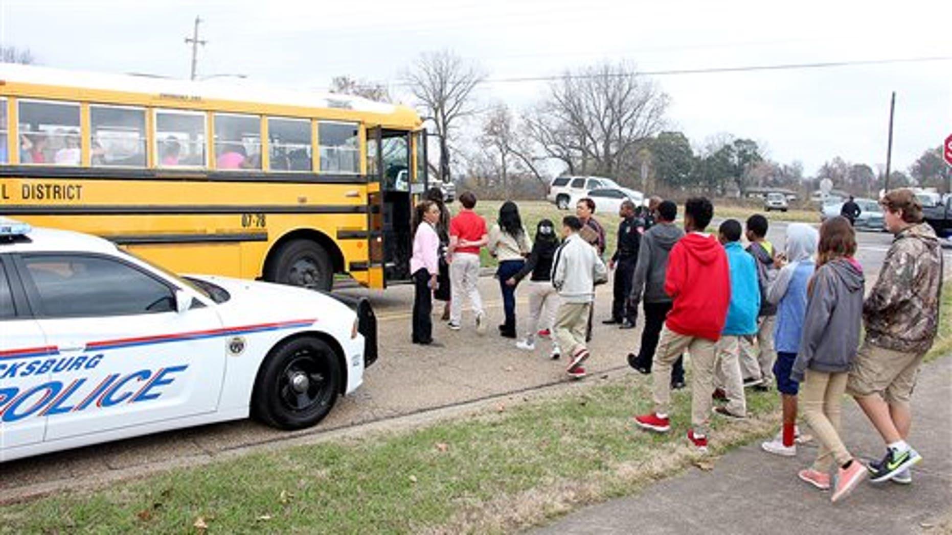 Warren Central Junior High School was evacuated Wednesday.
