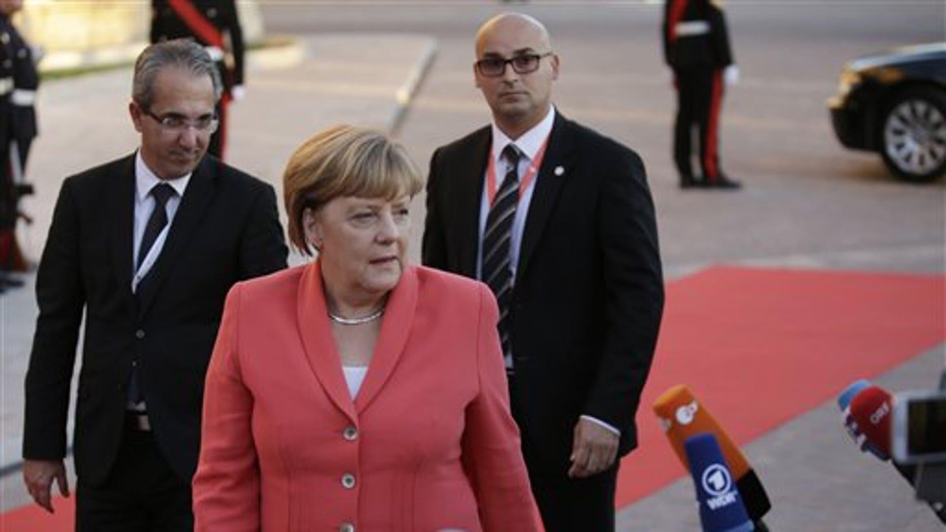 German Chancellor Angela Merkel Wednesday.