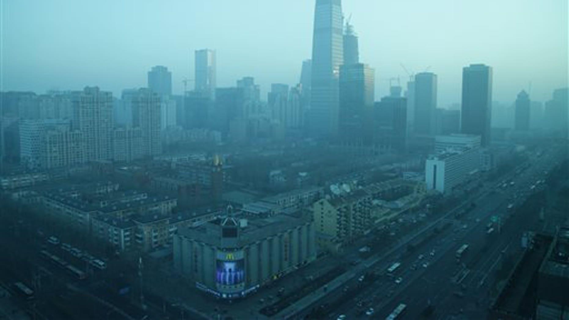 Beijing's central business district Thursday.