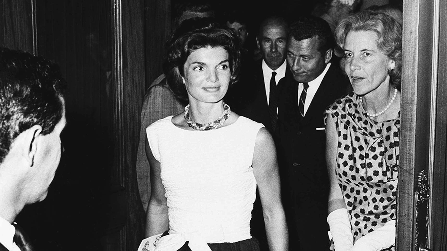 """Jackie Kennedy with her best friend Rachel """"Bunny"""" Mellon (right)."""