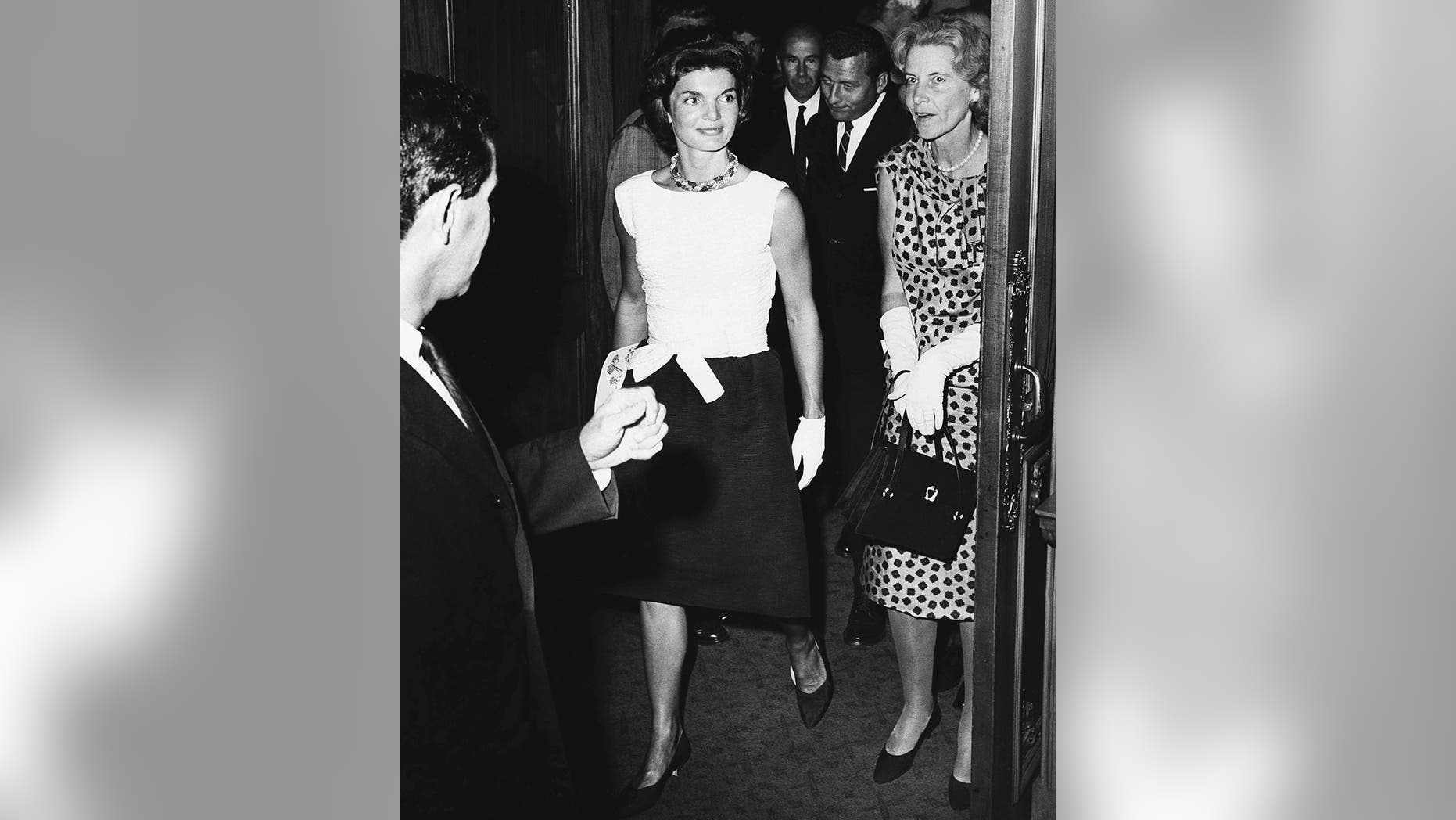 "Jackie Kennedy with her best friend Rachel ""Bunny"" Mellon (right)."