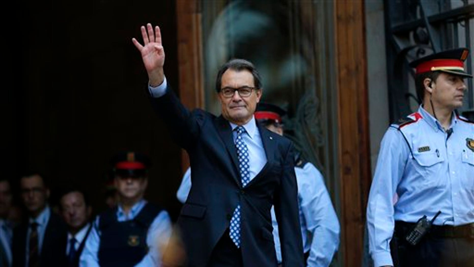 Catalan regional acting president Artur Mas. (AP Photo/Manu Fernandez)