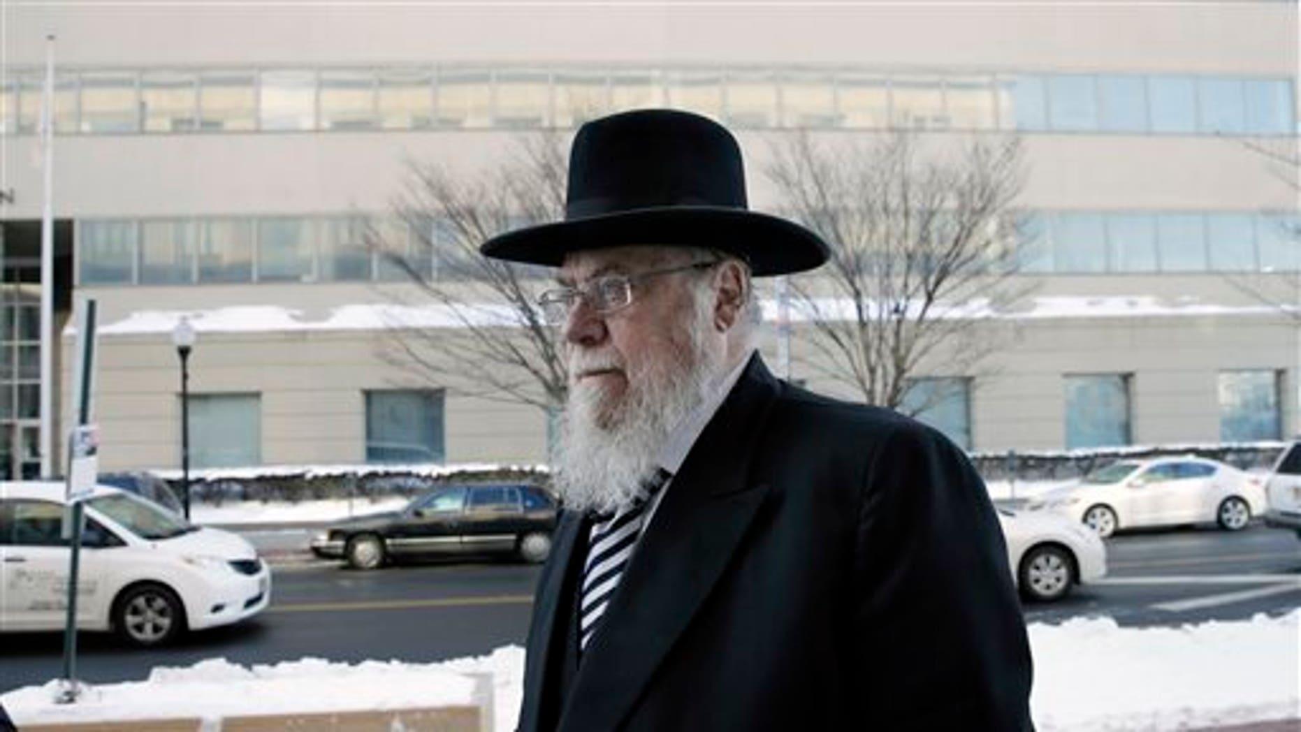 Rabbi Mendel Epstein in February.