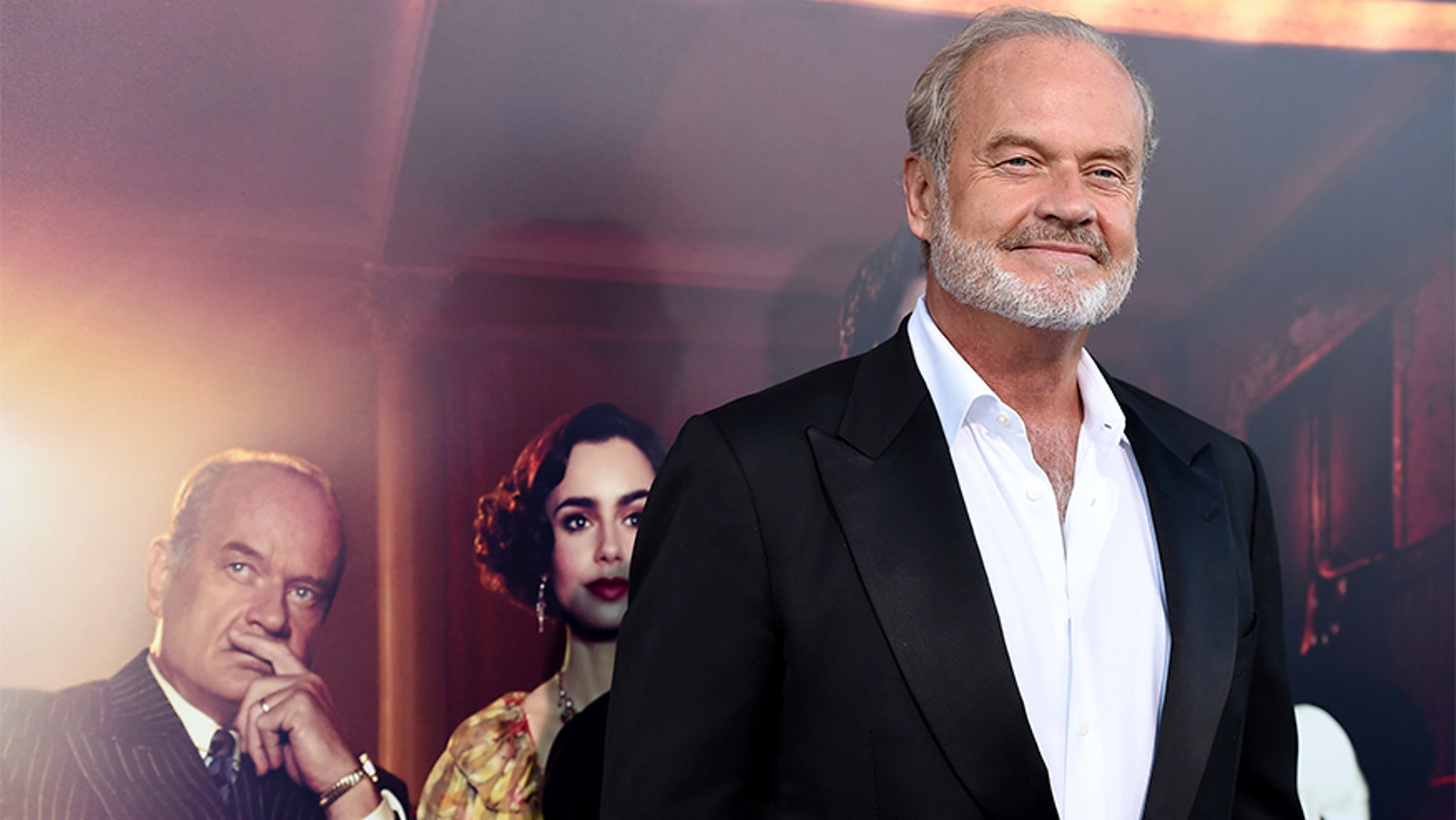 "Kelsey Grammer talks about the death of his sister, his love life and the joy of working on ""Frasier."" Here Kelsey arrives at the Los Angeles premiere of 'The Last Tycoon' in July 2017."