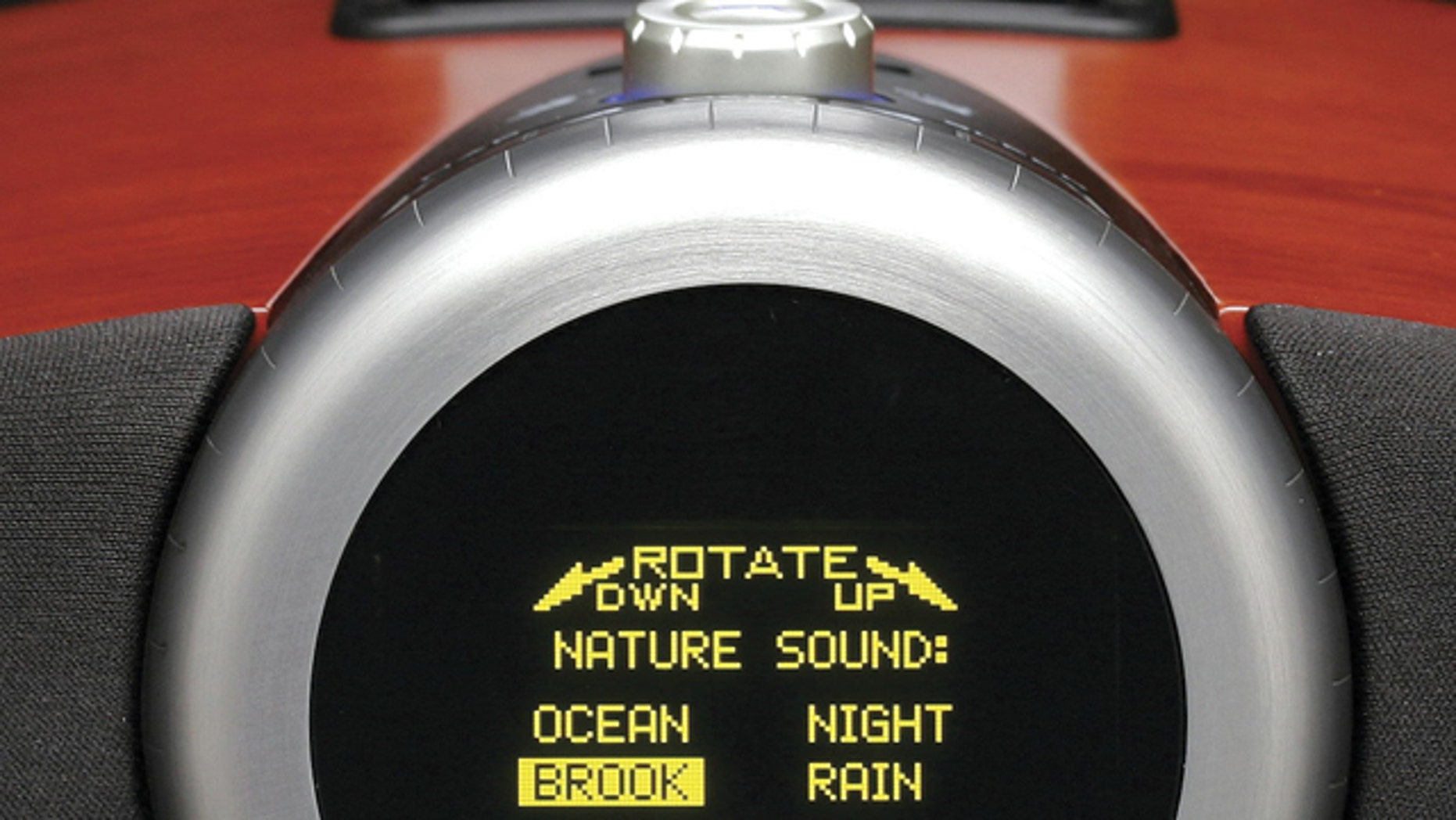 the Acoustic Research ART1 Clock Radio has an advanced OLED display. The top of the case is touch sensitive, making it easy to turn on various sound themes to wake you up.