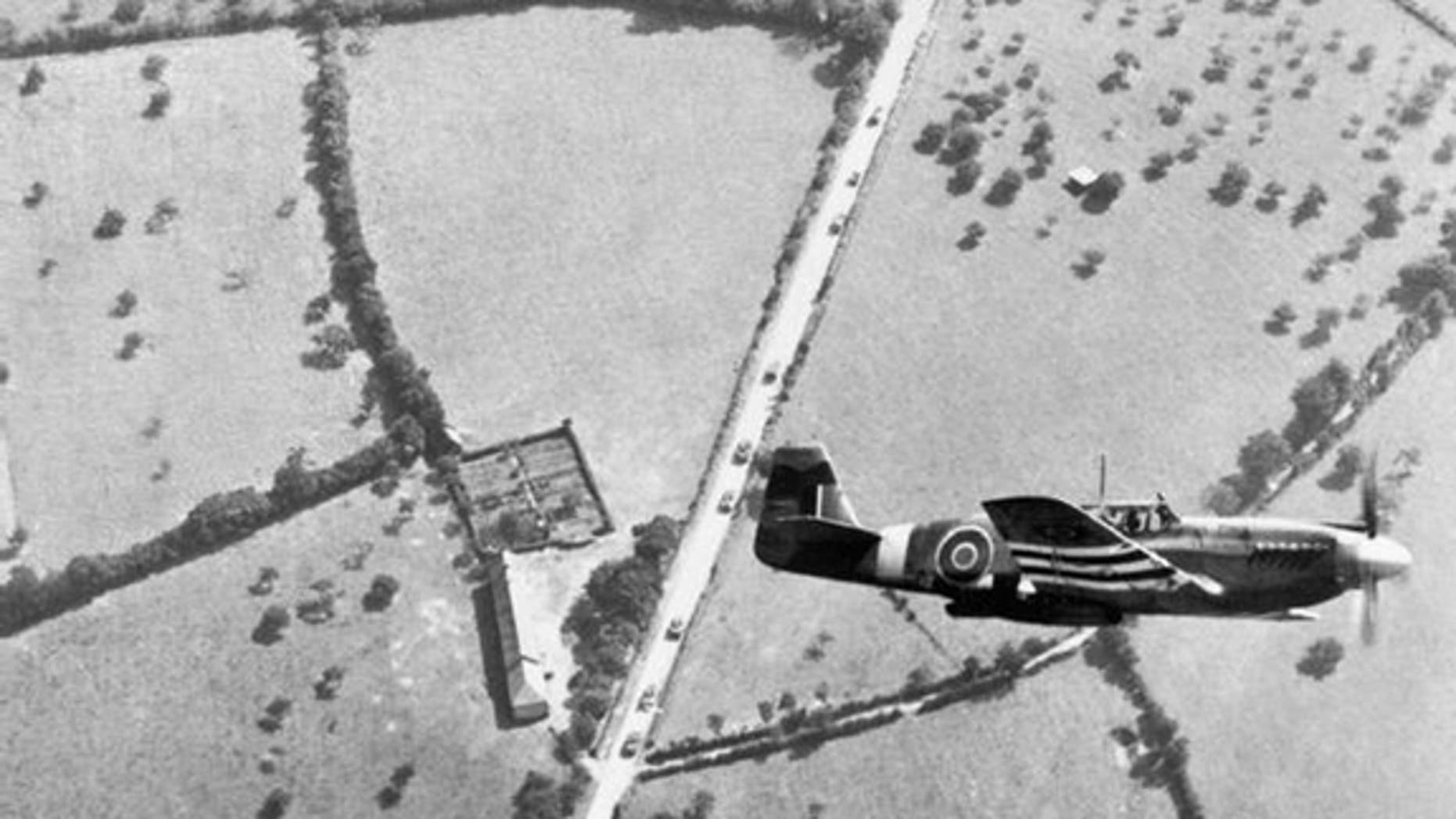A wartime Mustang aircraft from 2 (Army Cooperation) Squadron in flight (library image).