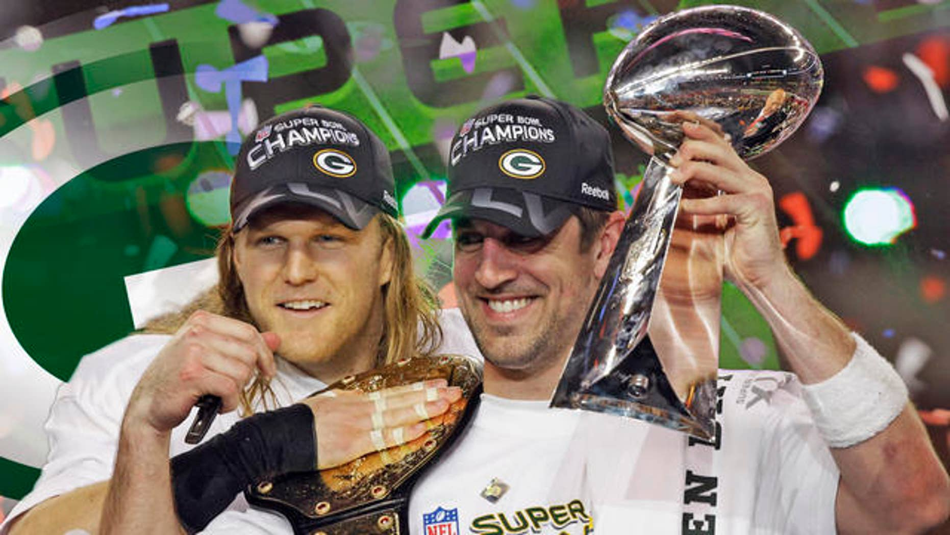 AP image/Clay Matthews and Aaron Rodgers
