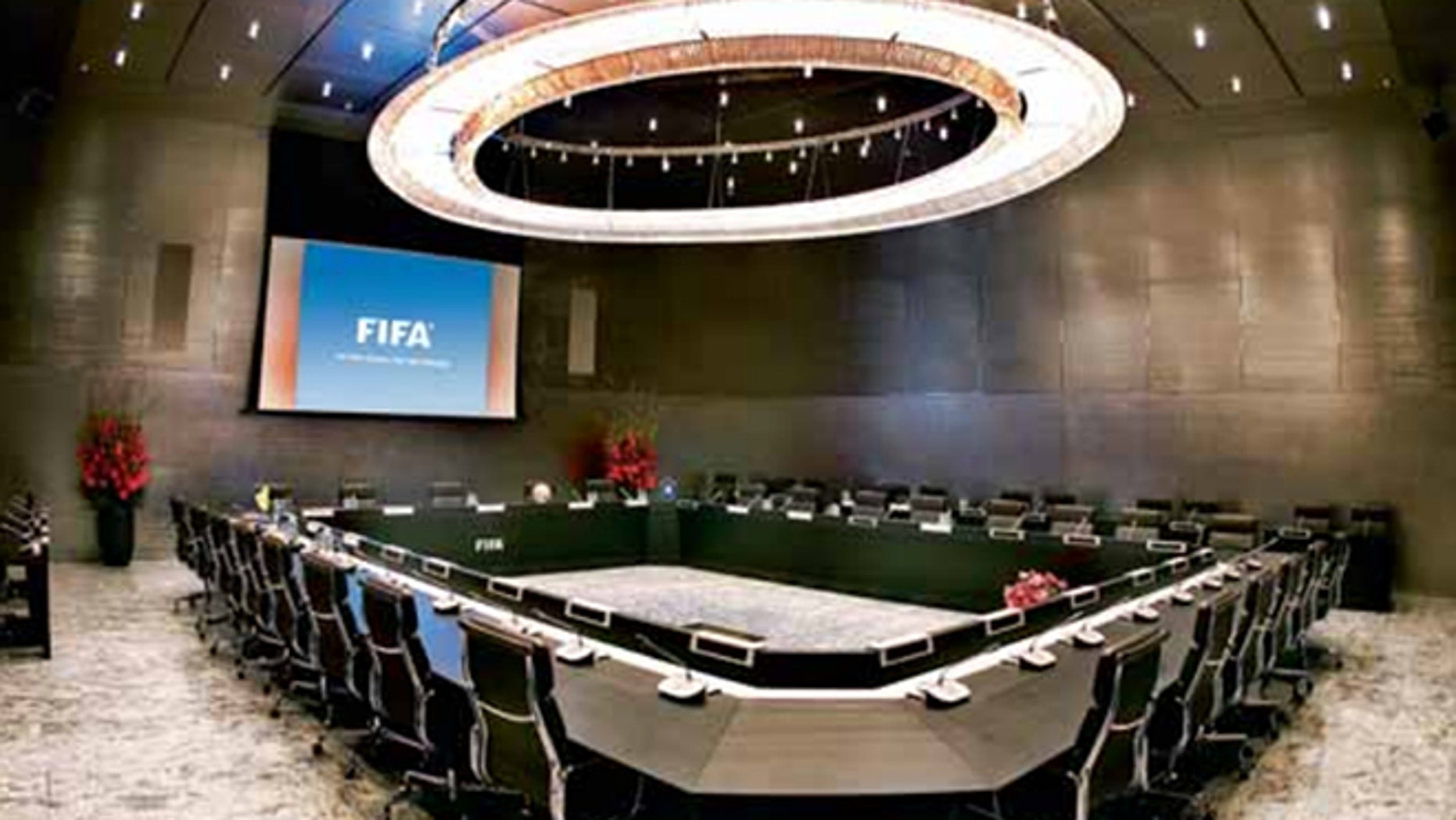 Gentlemen, you can't fight in here, this is the War Room! A conference room at FIFA's headquarters either in Zurich, Switzerland, or in a secret bunker deep beneath a volcano in the South Atlantic. (Photo: FIFA.com)