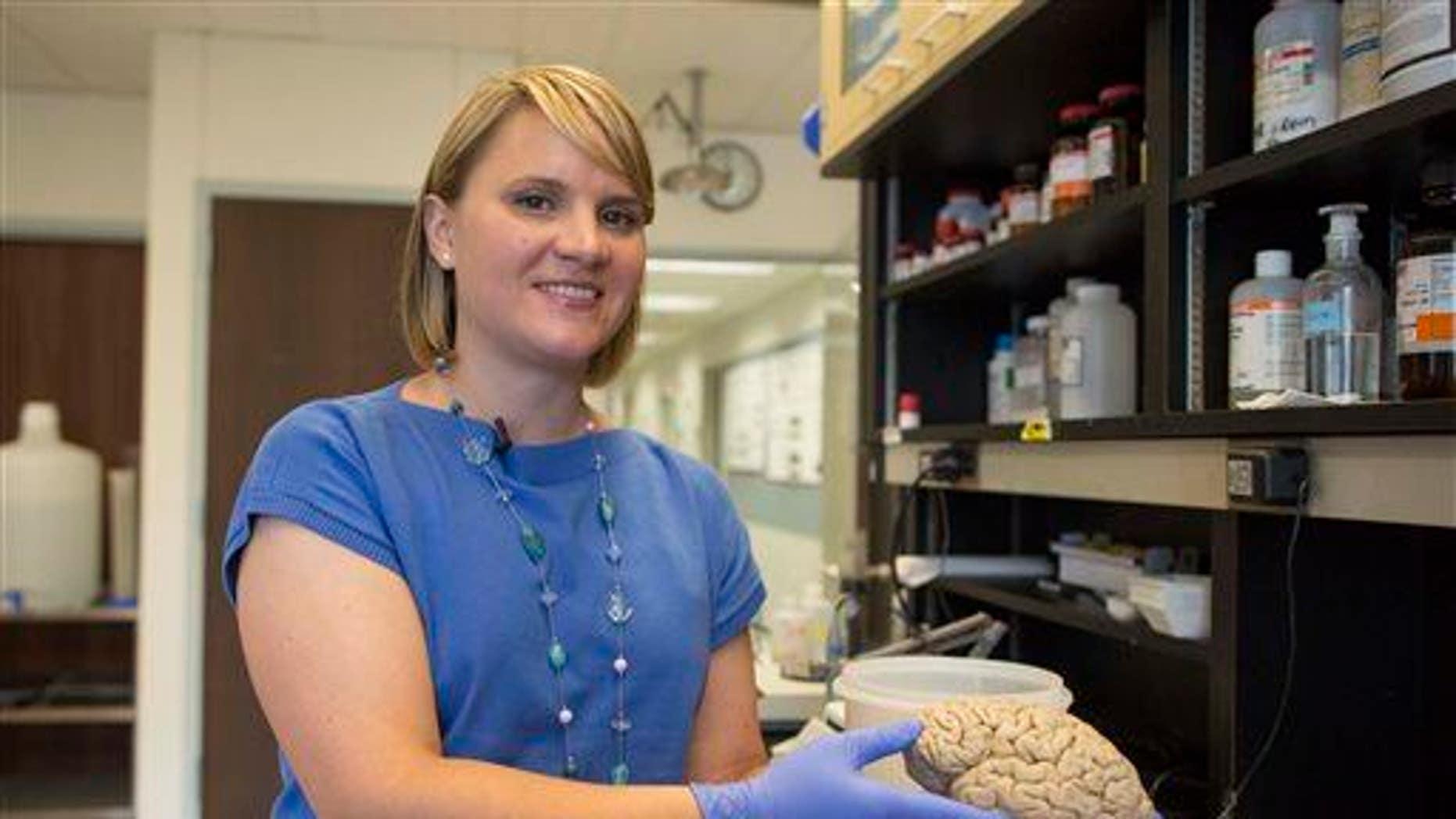 A human brain is shown.
