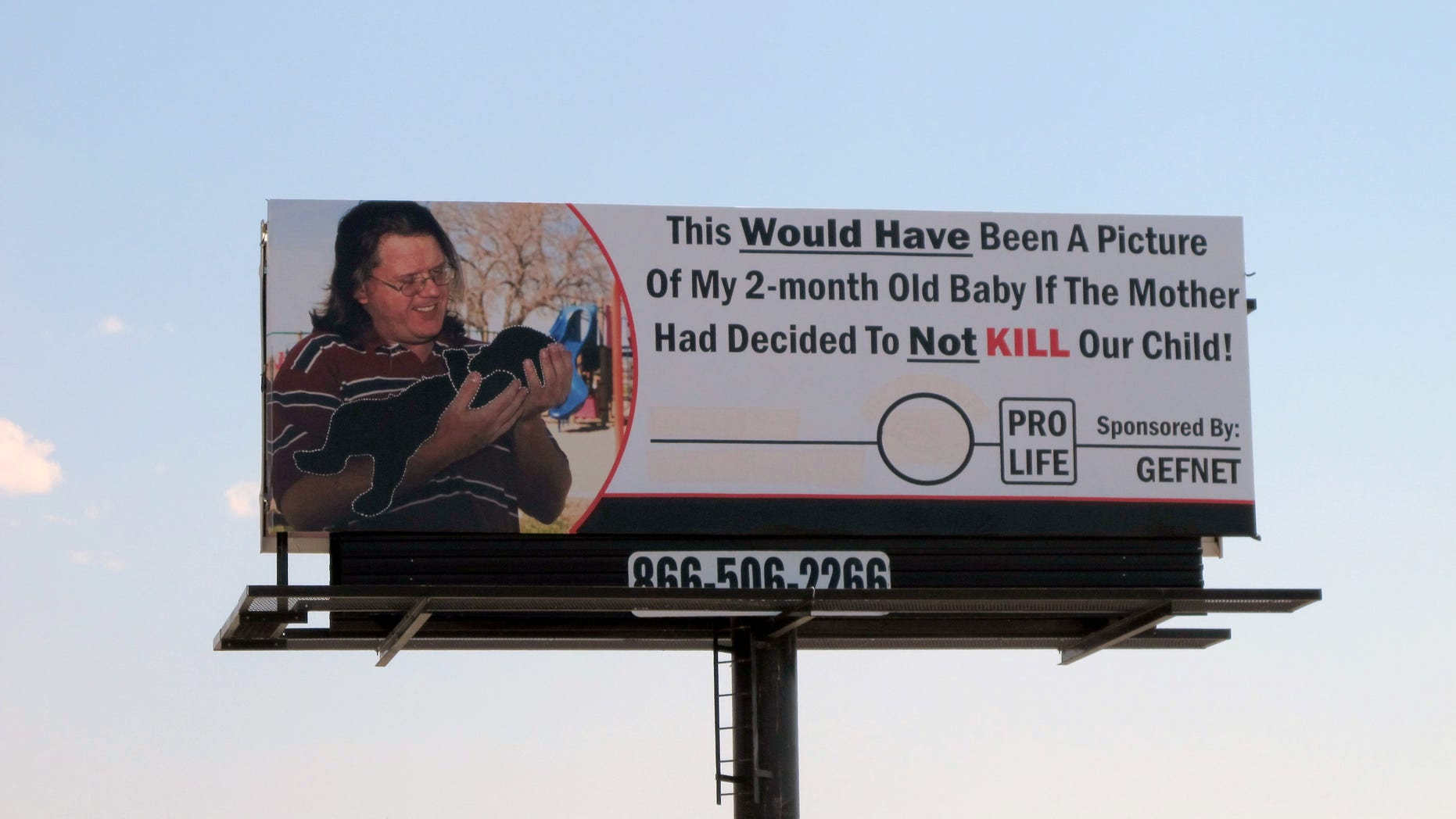 June 7: A controversial anti-abortion billboard that has been ordered to be removed in Alamogordo, NM