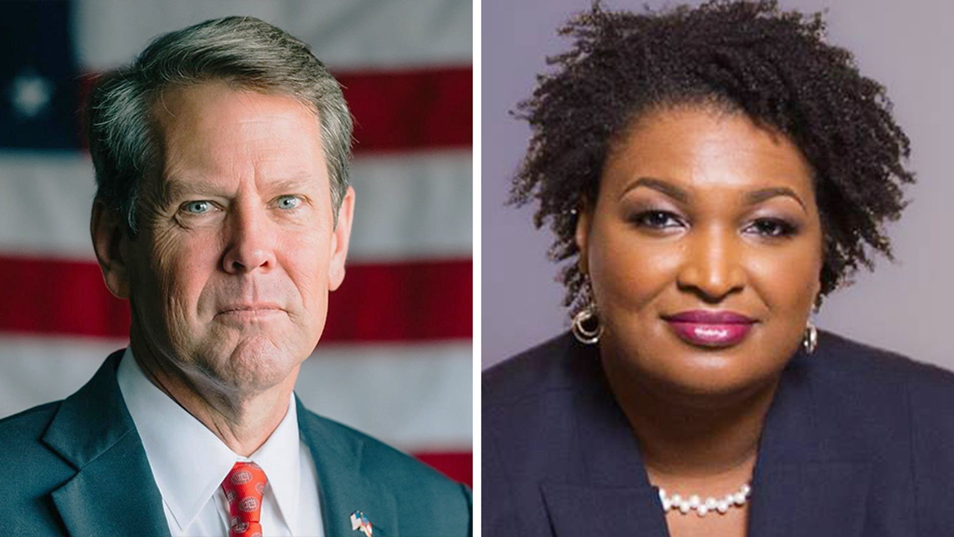 Republican Brian Kemp is running against Democrat Stacey Abrams in the race for governor of Georgia.