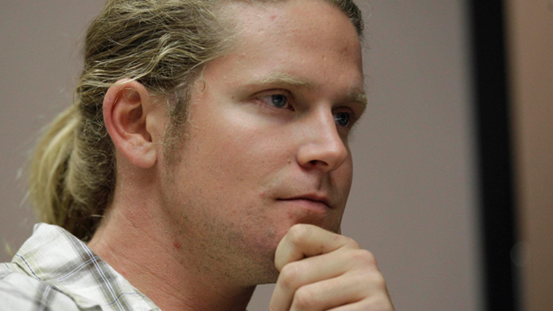 Sept. 4, 2012: James Ian Tyson, of Charlotte, speaks to an Associated Press reporter in Charlotte, N.C.