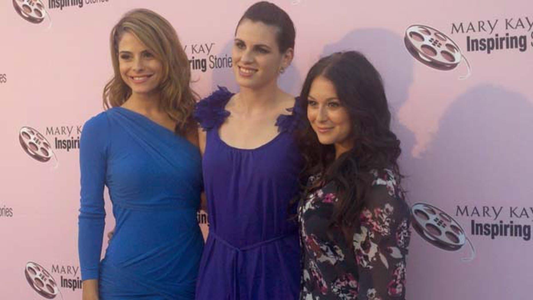 Sept. 29, 2011: Actresses Maria Menounos, Ada Alvarez and Alexa Vega attend Mary Kay's Inspiring Stories event on Thursday to fight domestic violence.