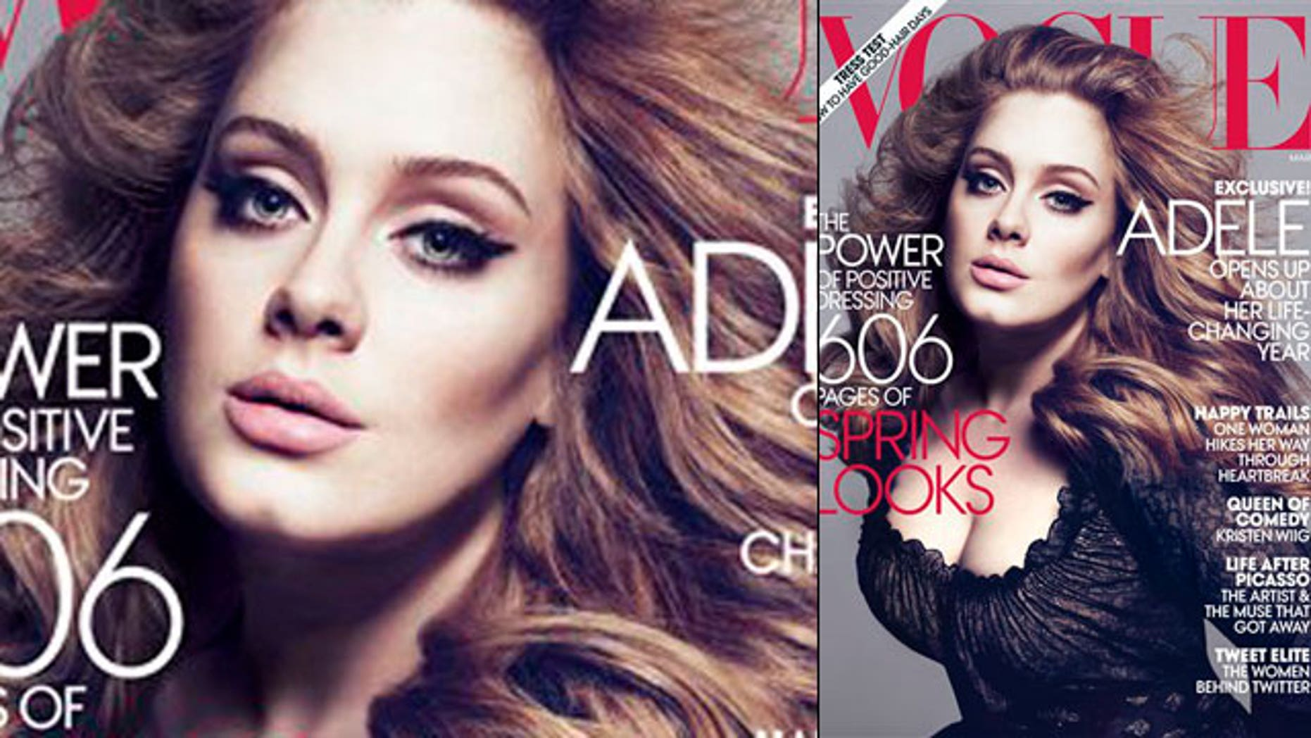 Adele on the March cover of Vogue magazine (AP)
