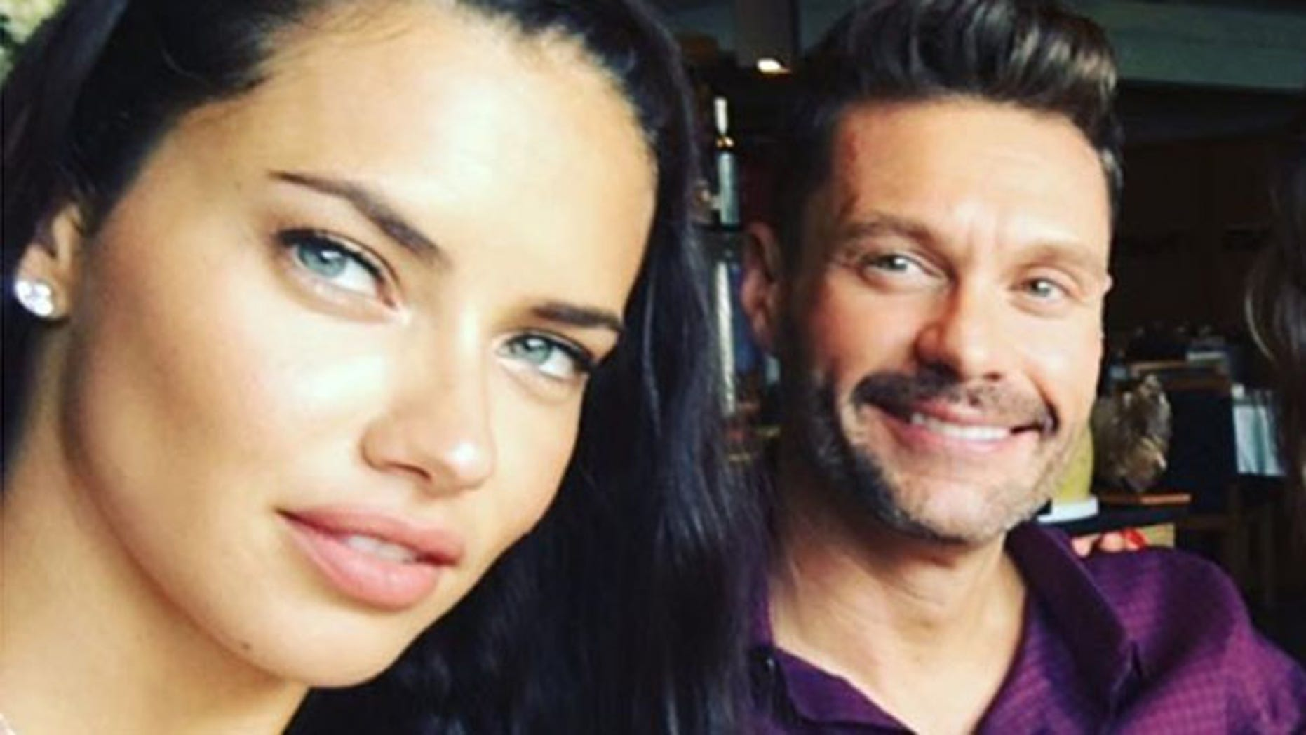 Adriana Lima and Ryan Seacrest