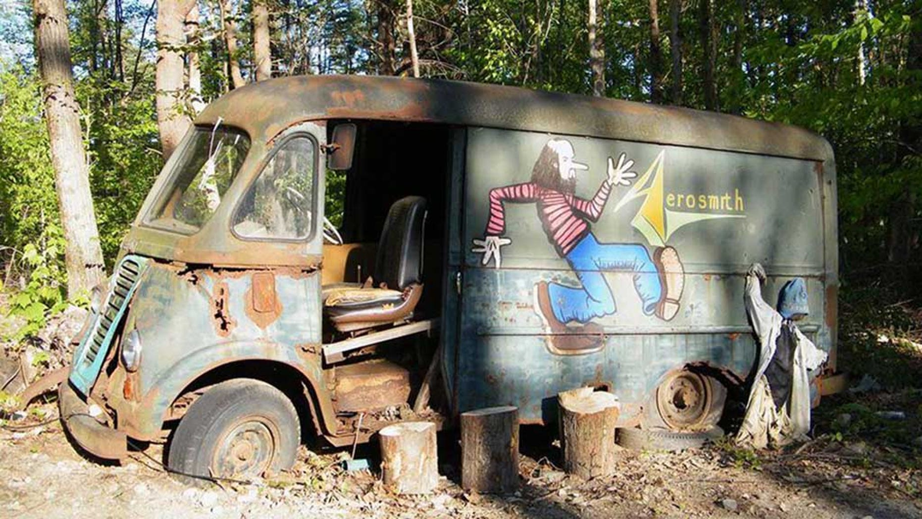 """The stars of """"American Pickers"""" discovered a van that belonged to Aerosmith in the 1970s."""