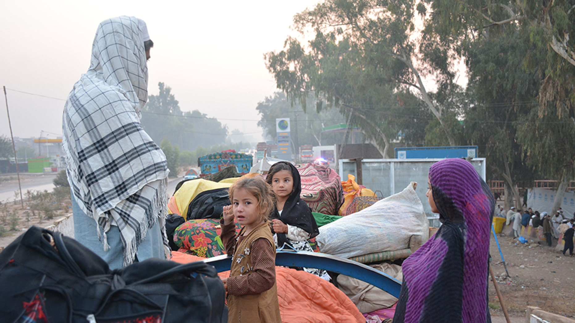 Abdul Rahim and his family, among thousands of returning former refugees who lived in Pakistan, spent the night outside a refugee verification center in Afghanistan.