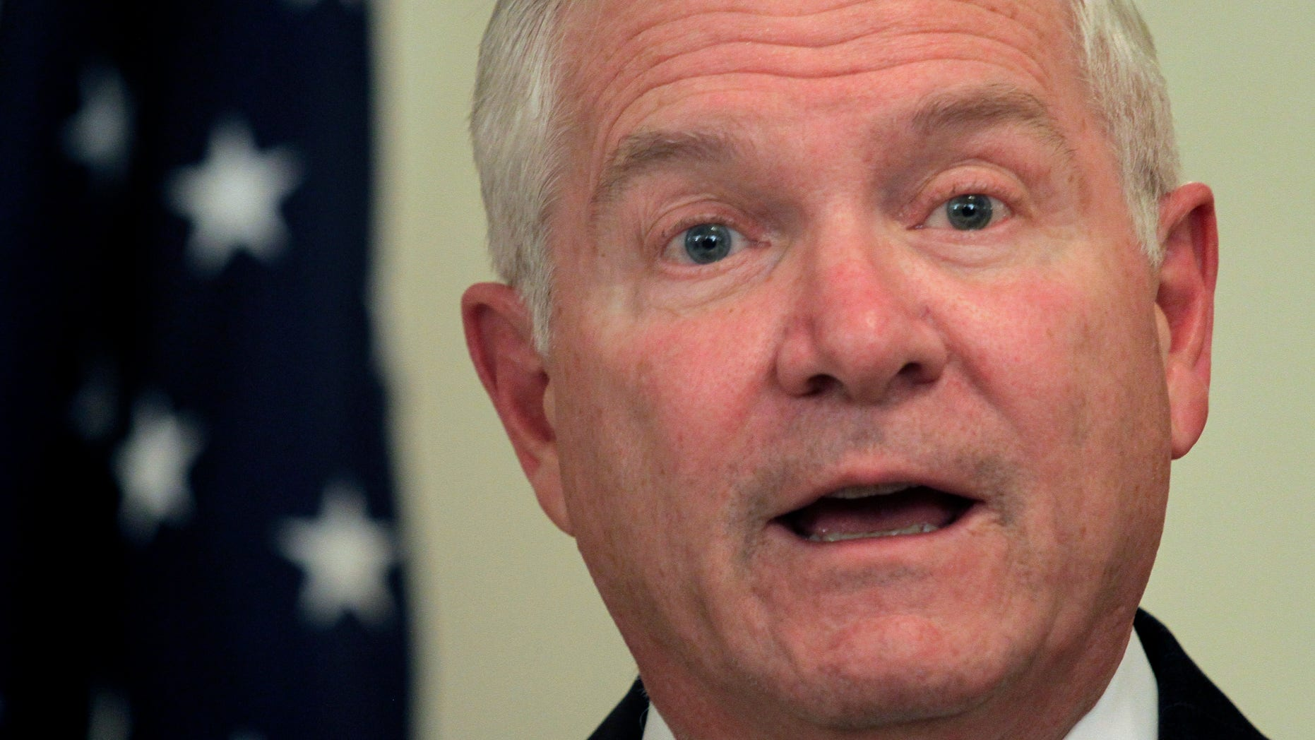 U.S. Defense Secretary Robert Gates, shown here Dec. 8, provided four troops with a comfortable trip home, allowing them to board his plane, an expansive E-4B — a militarized version of the Boeing 747, known as the Doomsday Plane.