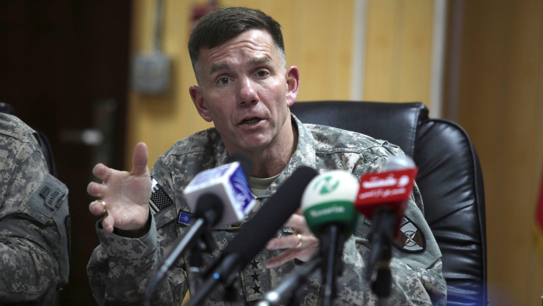 Jan. 5: Lt. Gen. William  B. Caldwell IV, commander of NATO Training Mission-Afghanistan addresses a press conference in Kabul, Afghanistan.