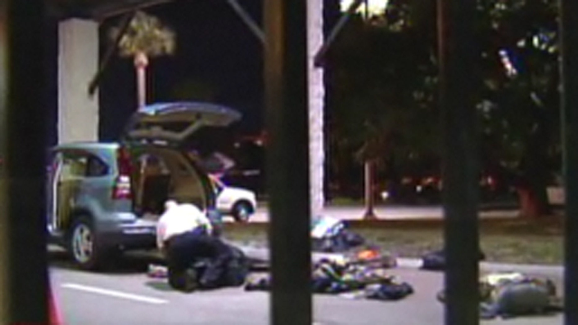 Officials at MacDill Air Force Base say one of the two people stopped at the base's Bayshore gate Monday night is an active duty military member who currently has AWOL status.