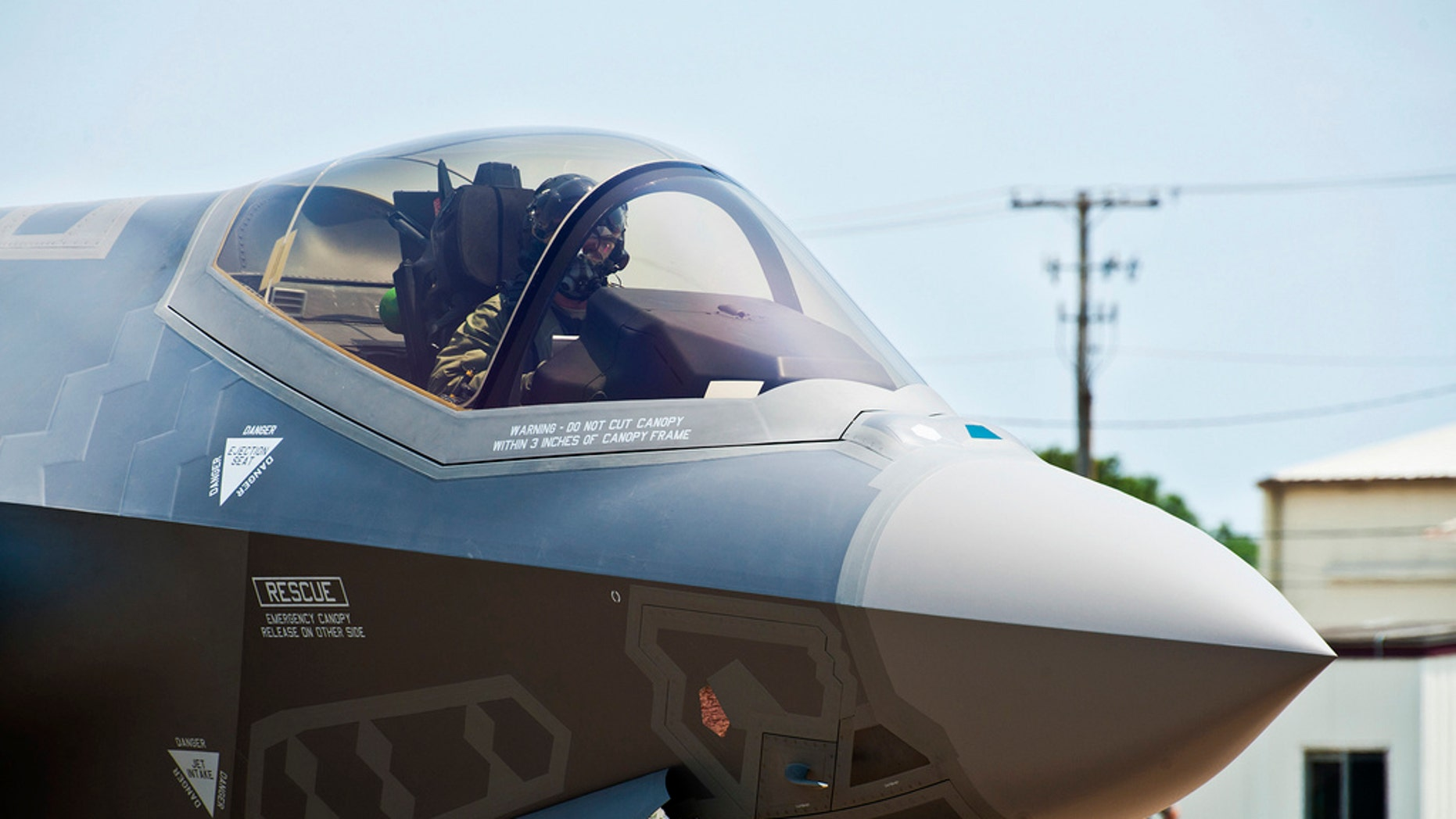 July 14, 2011: Members of the 33rd Fighter Wing get a look at the Department fo Defense's newest aircraft, the U.S. Air Force F-35 Lightning II joint strike fighter, on arrival to its new home at Eglin Air Force Base, Fla.