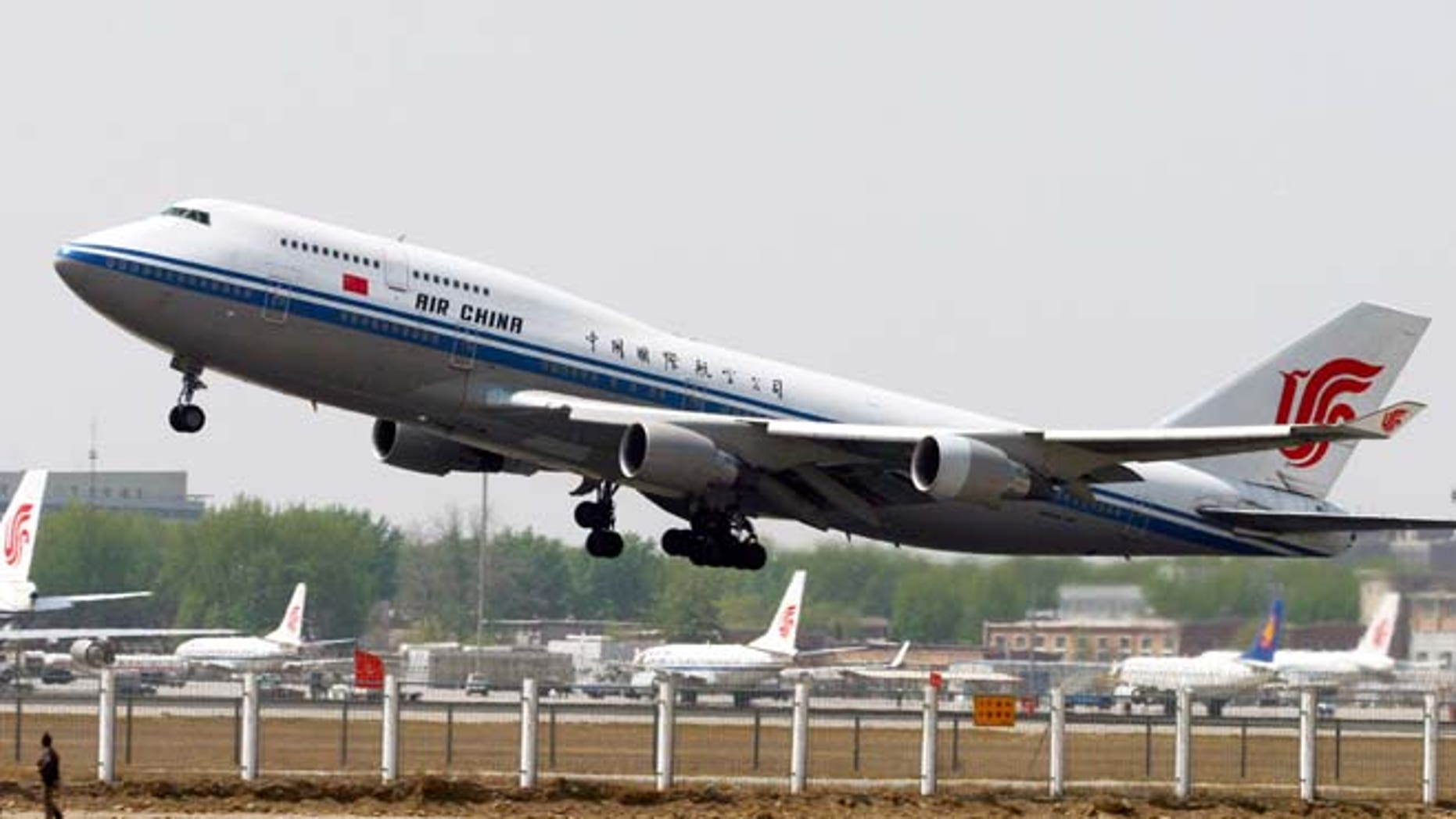 FILE 2006: An Air China Boeing 747 aircraft takes off from Beijing's international airport.
