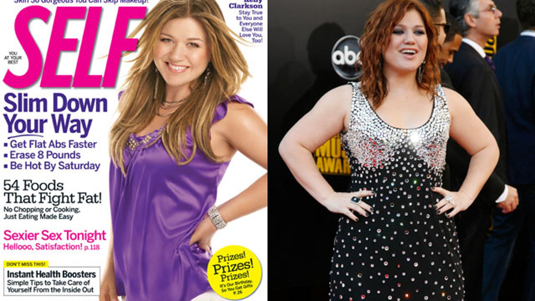 Some say Kelly Clarkson was made to look thinner on Self magazine recently. Is airbrushing a necessity or over-the top?