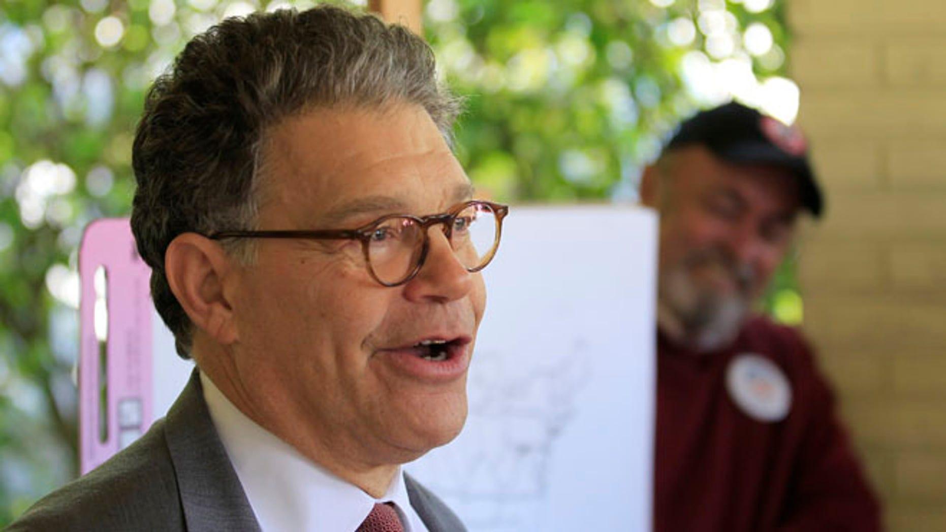 U.S. Sen. Al Franken (D-MN) in Wilton Manors, Florida October 31, 2012.