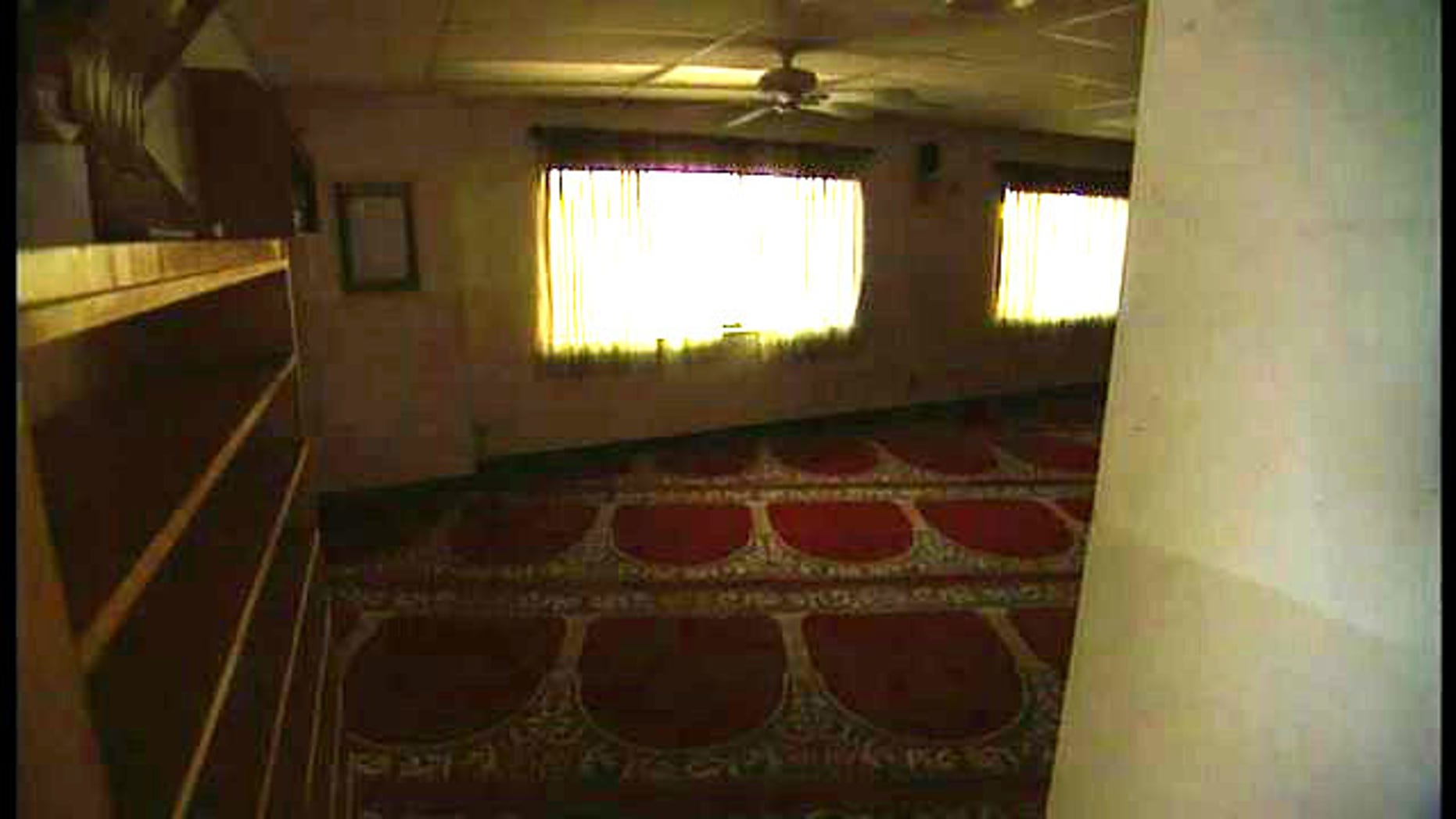 Anteroom inside the Al- Ribat mosque in La Mesa, Calif. where Awlaki is believed to have met with two of the 9/11 hijackers.