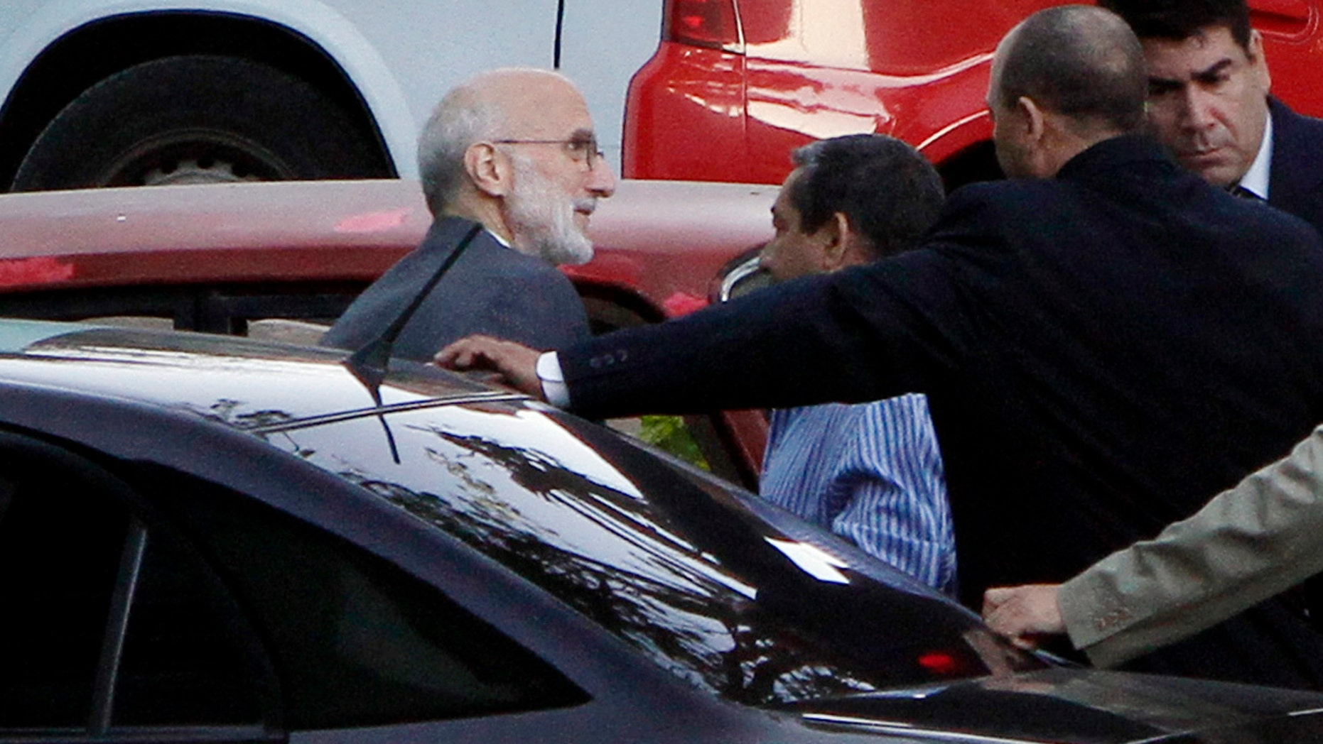 Alan Gross outside the courthouse in Havana, Cuba, in a March 5, 2011, file photo.