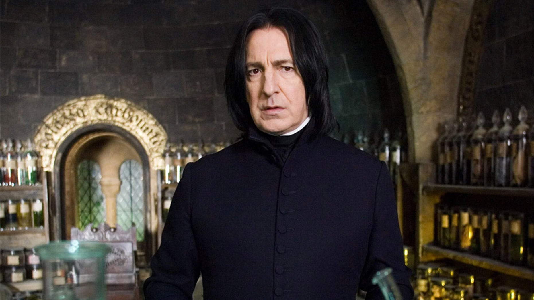 "Alan Rickman played Professor Severus Snape in the ""Harry Potter"" movie franchise."