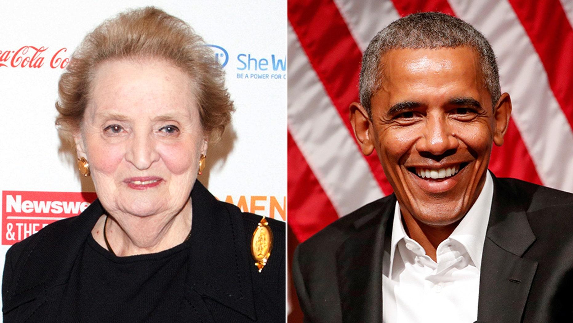 Former Secretary of State Madeleine Albright criticized Barack Obama for his Syria policy.