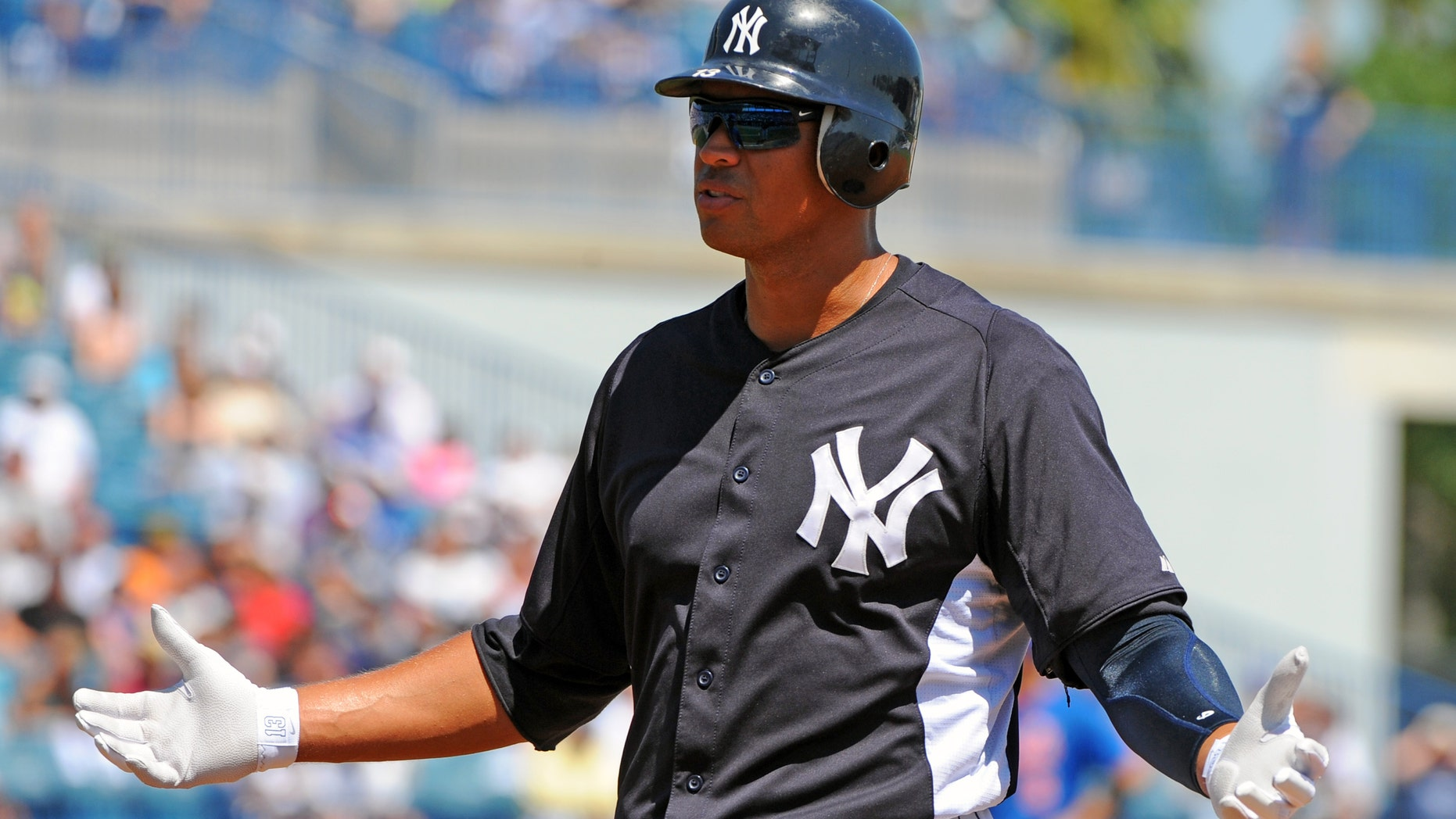 Baseball's highest-paid player, Alex Rodriguez. (Photo by Al Messerschmidt/Getty Images)