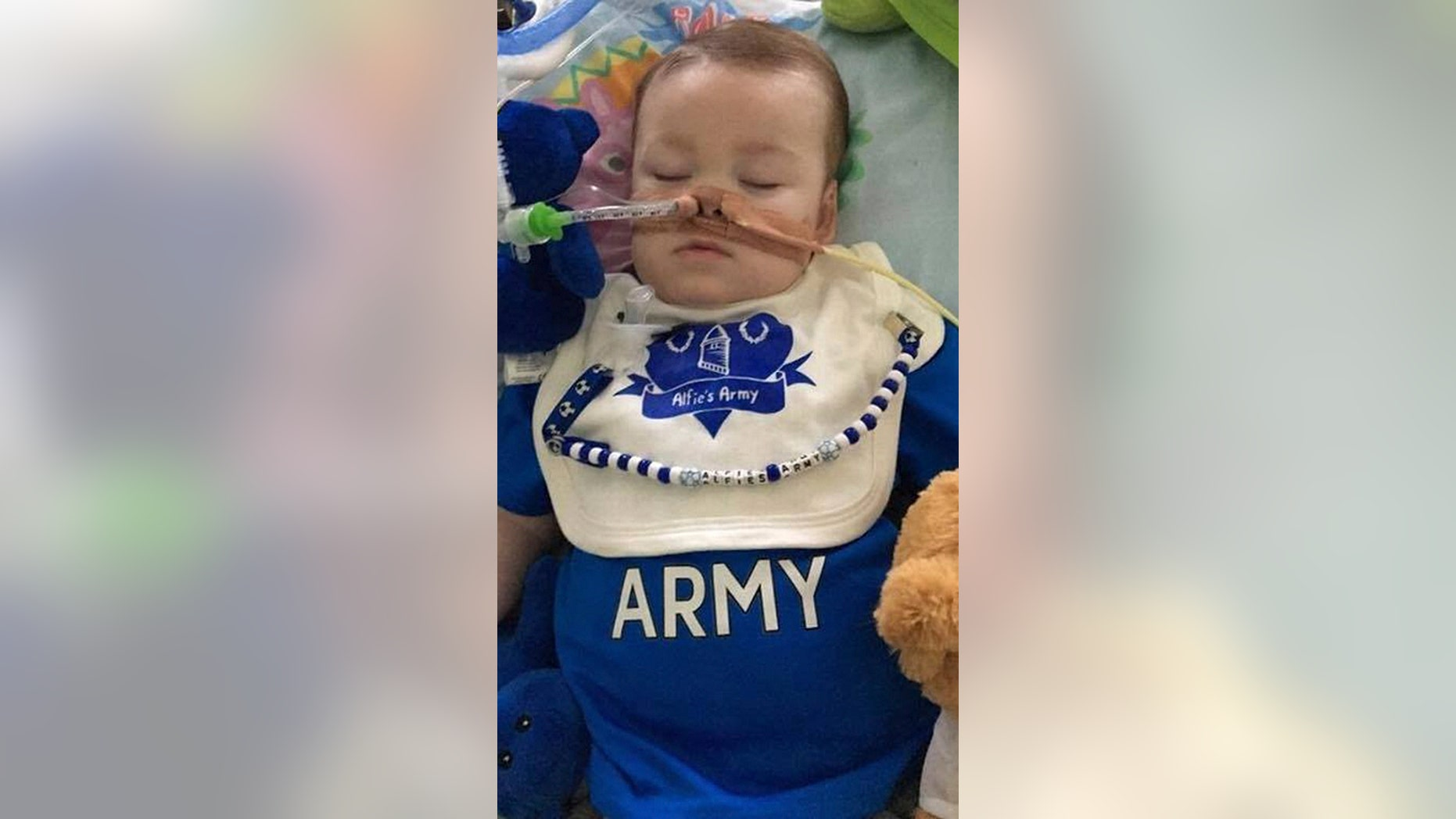 21-month-old Alfie Evans has a mystery degenerative brain condition that has left him in a coma for a year, reports said.