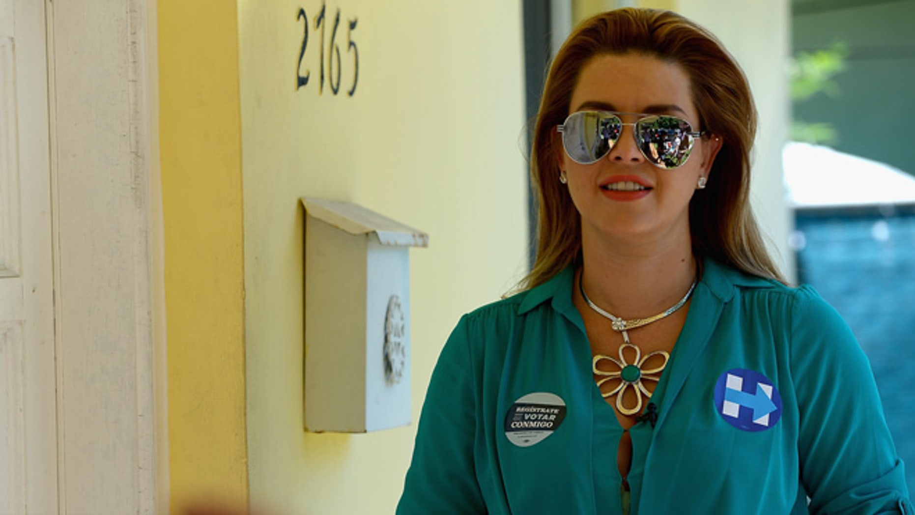 MIAMI, FL - AUGUST 20:  Alicia Machado campaigns for Hillary Clinton on August 20, 2016 in Miami, Florida.  (Photo by Gustavo Caballero/Getty Images)