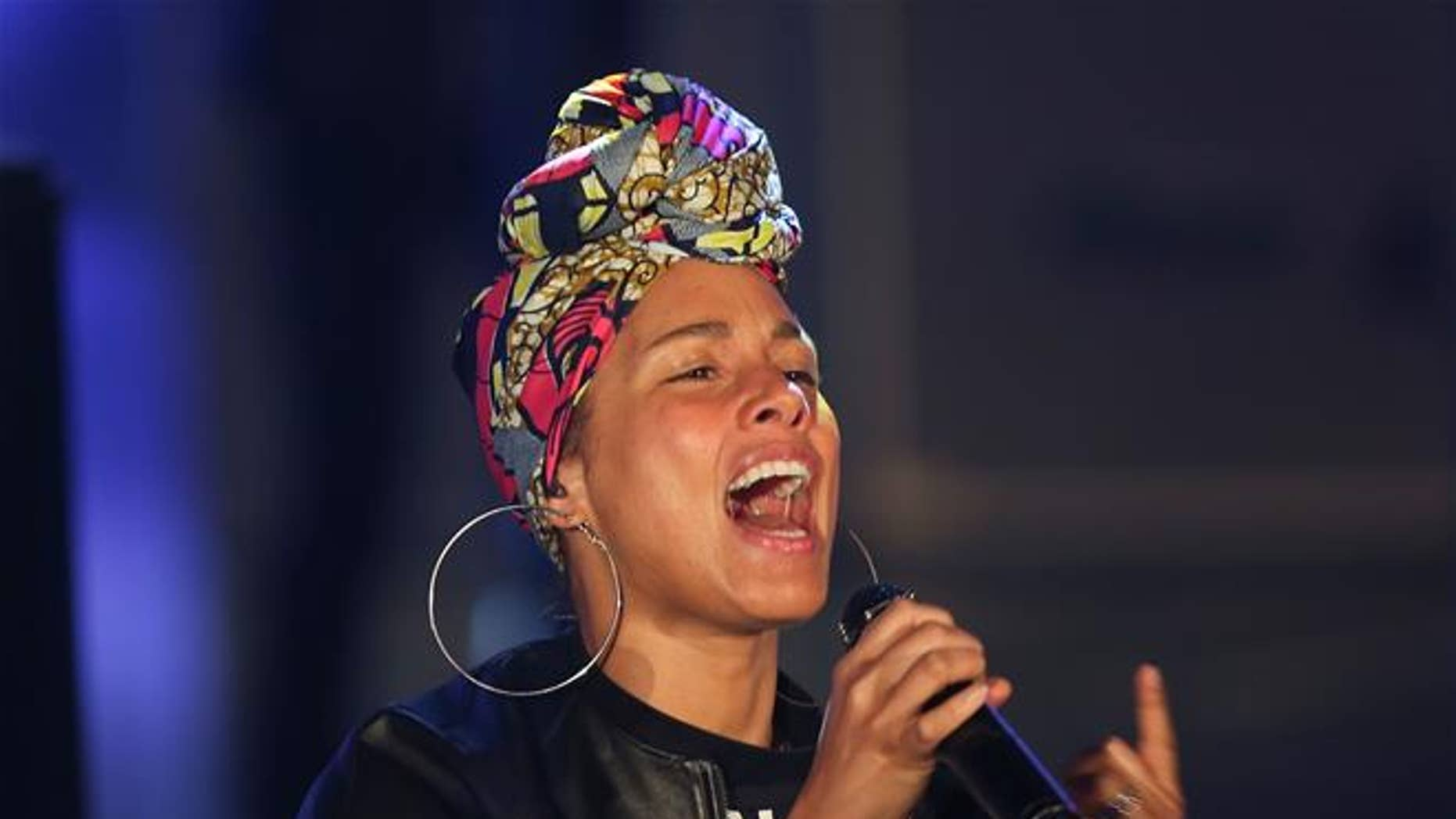 Alicia Keys performs in Italy last month.