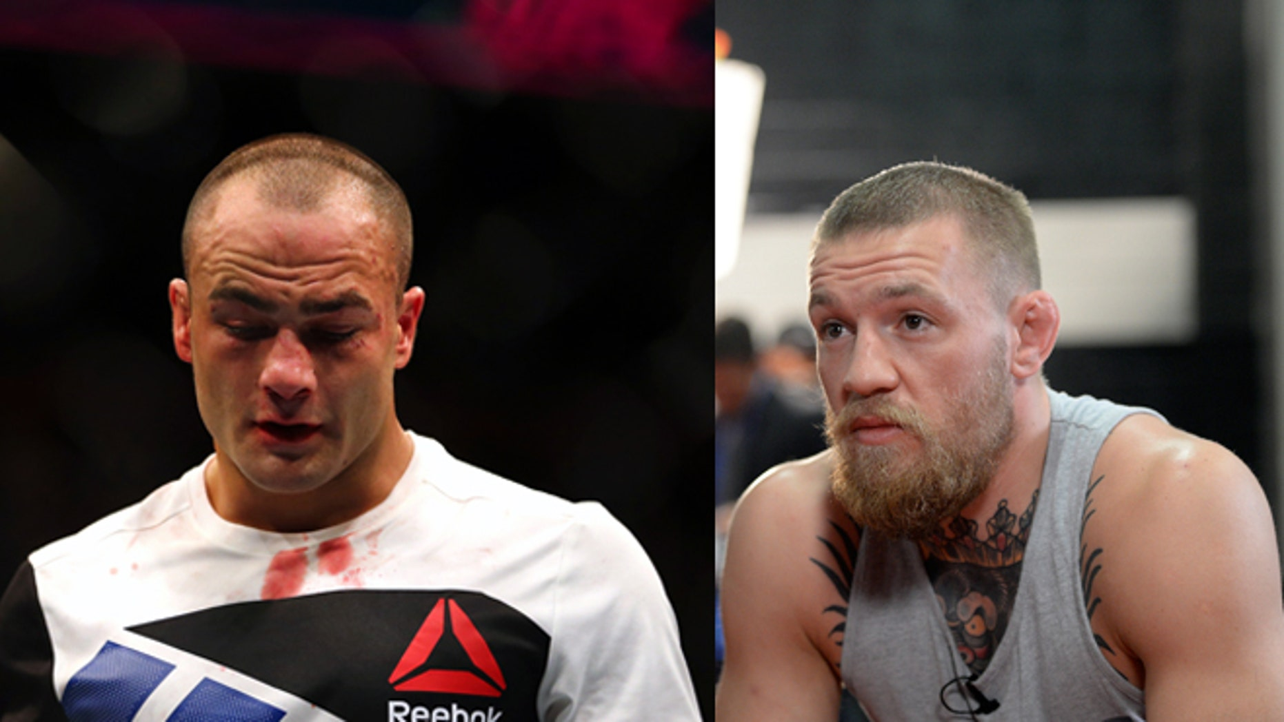 Eddie Alvarez (left) and Conor McGregor. (Photos: Getty Images)