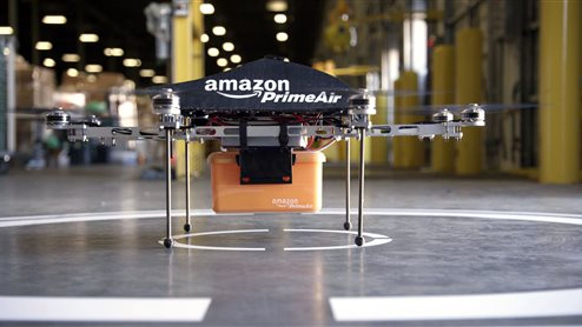 The so-called Prime Air unmanned aircraft project that Amazon is working on in its research and development labs.