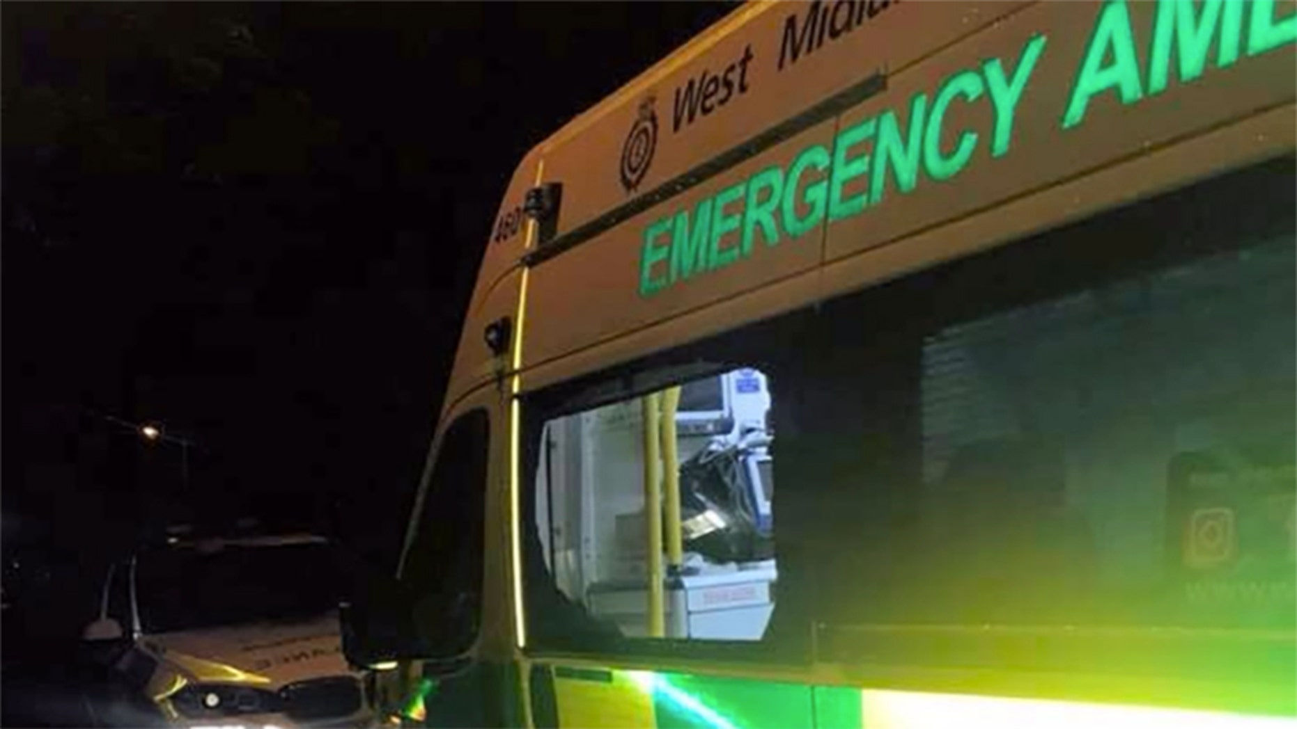 Police were looking for thieves who snatched life-saving equipment and several personal belongings from an ambulance while paramedics were responding to a call.