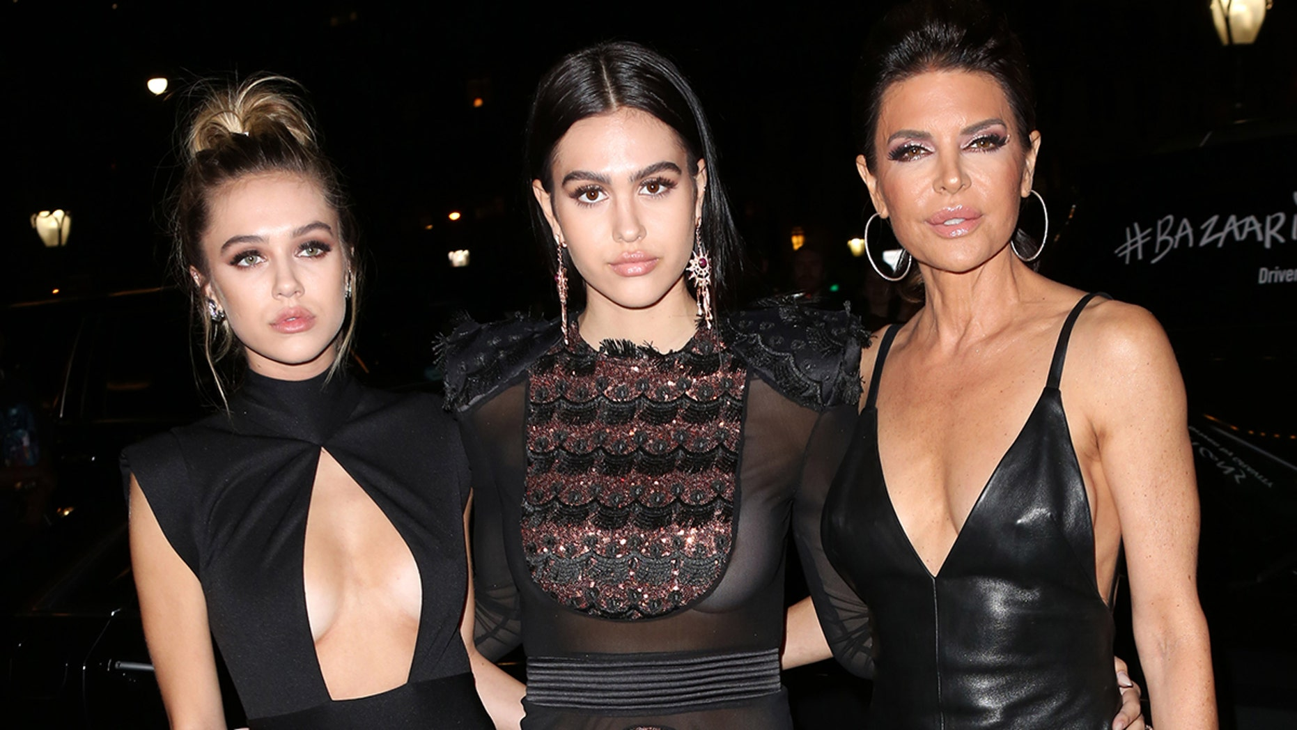 Lisa Rinna and her daughters Delilah Belle and Amelia Gray Hamlin at the 2018 Harper's BAZAAR Icons event.
